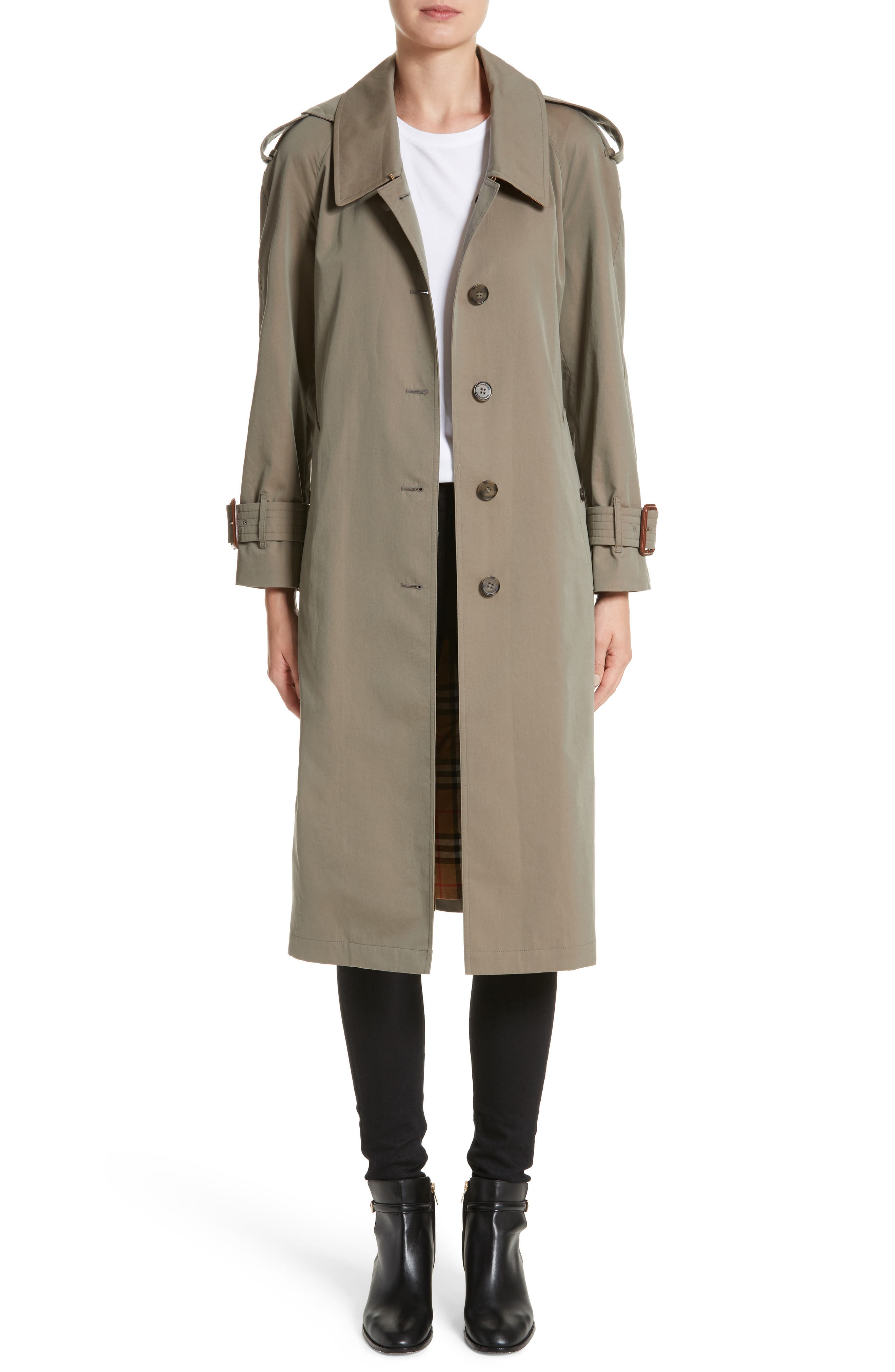 Burberry Crostwick Side Slit Tropical Gabardine Trench Coat