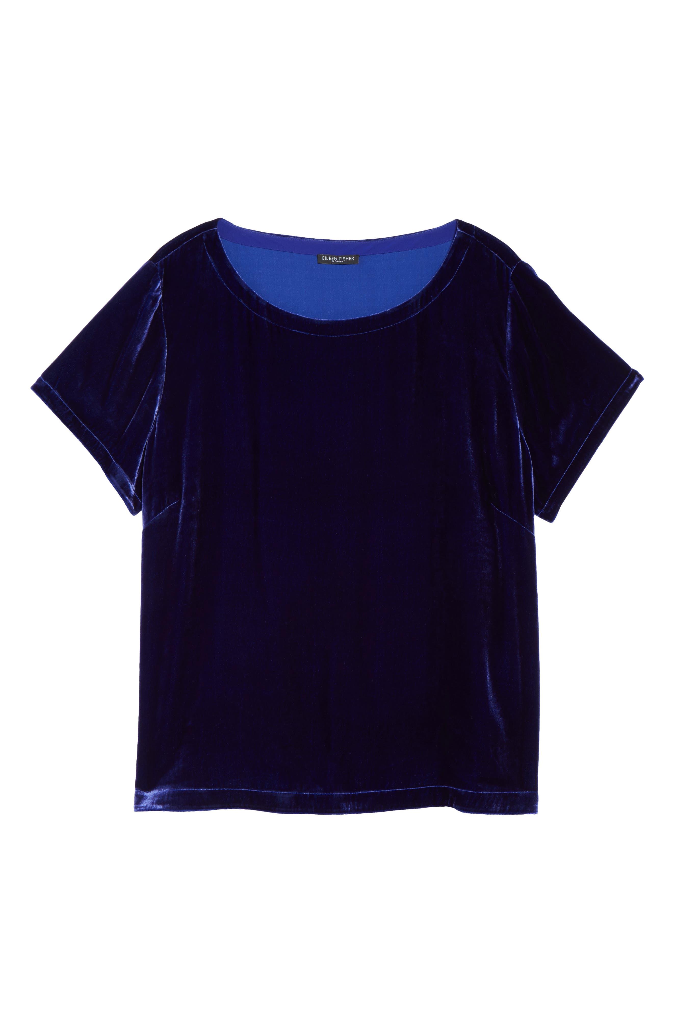 Alternate Image 6  - Eileen Fisher Velvet Top (Plus Size)