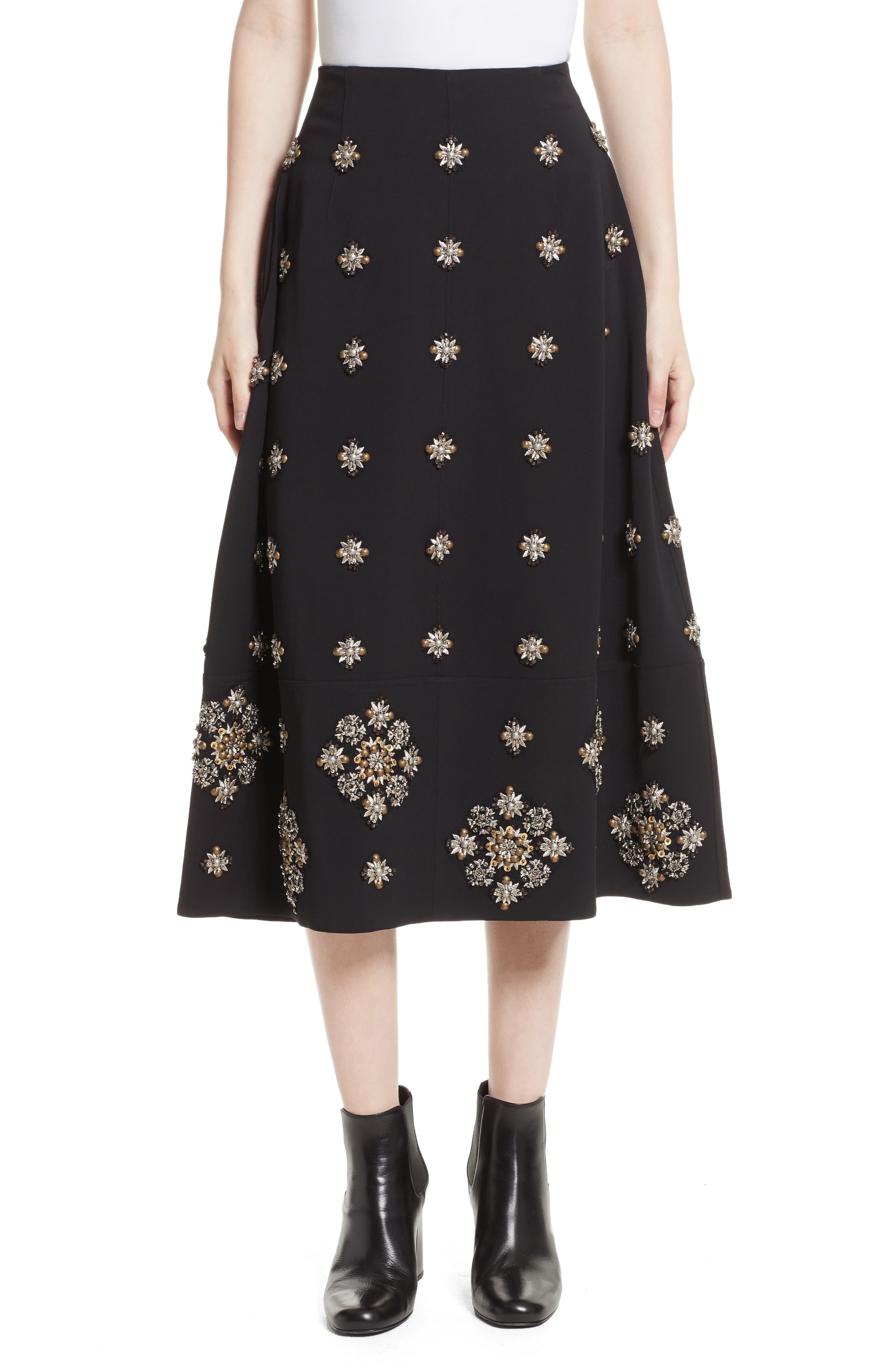 Elizabeth and James Lottie Embellished Midi Skirt
