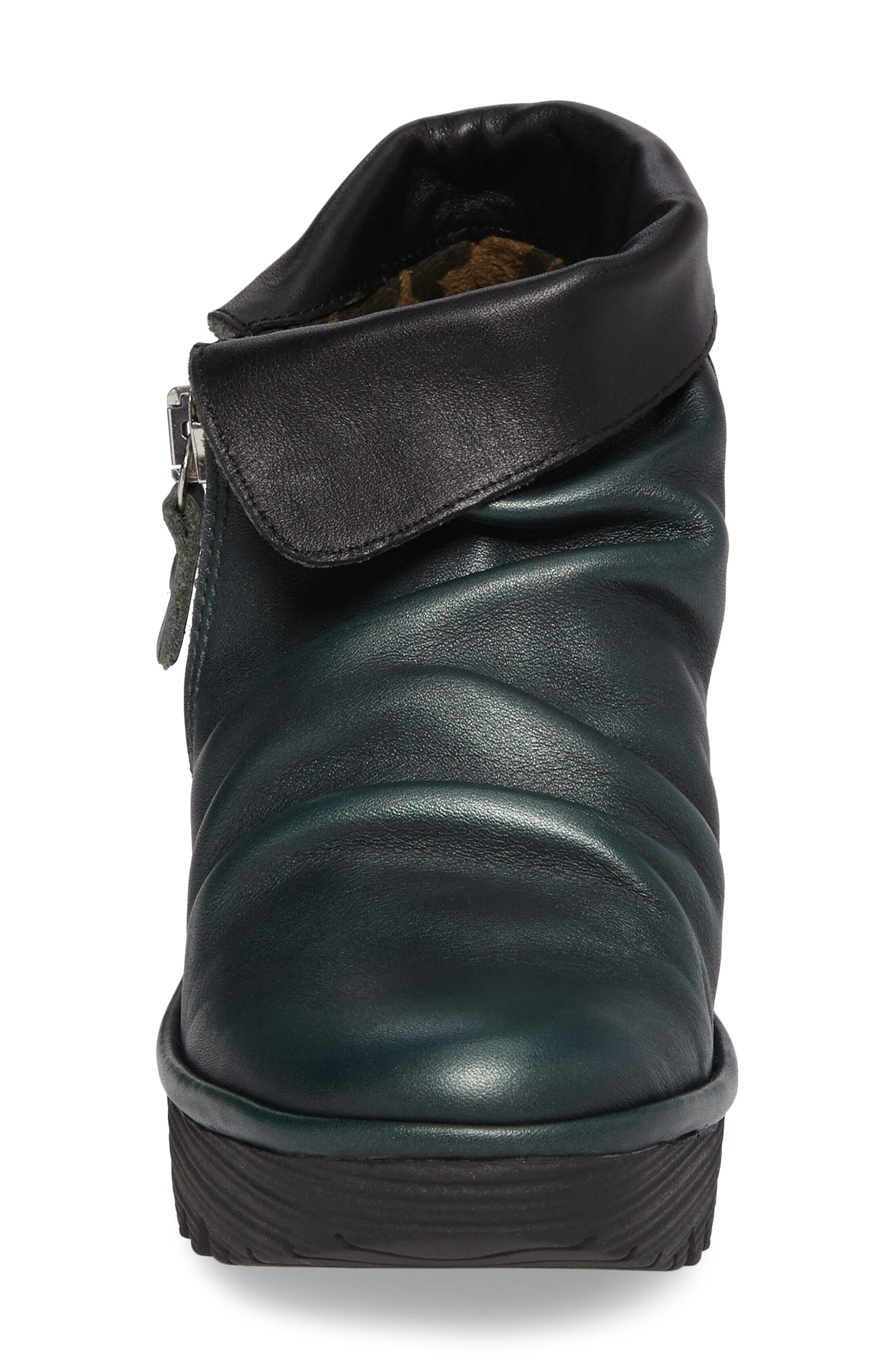 Yoxi Wedge Bootie,                             Alternate thumbnail 4, color,                             Seaweed Leather