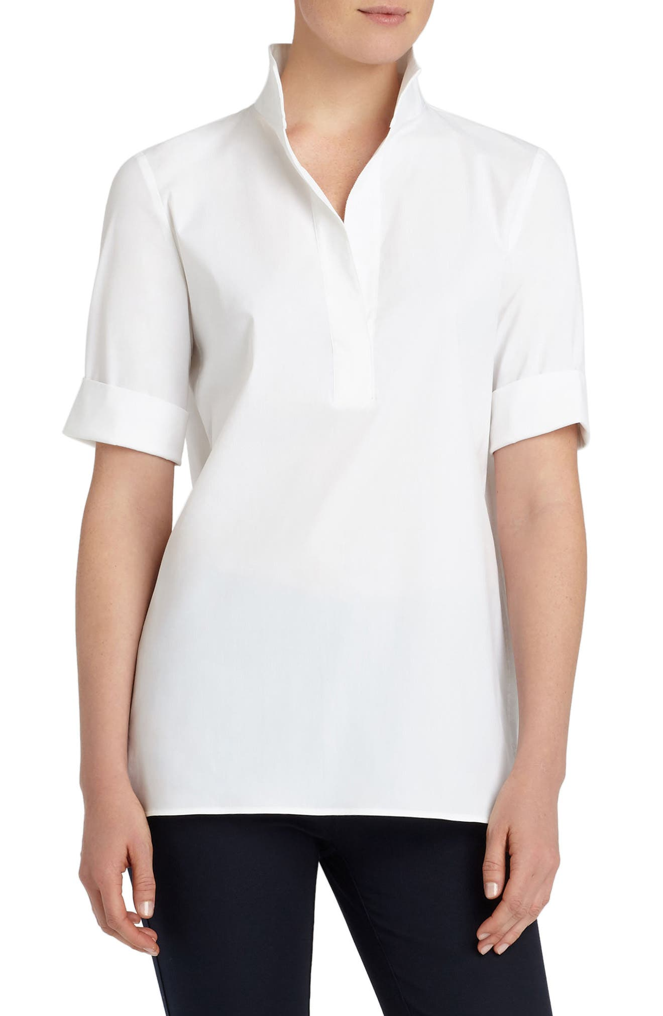 Daley High/Low Blouse,                             Main thumbnail 1, color,                             White