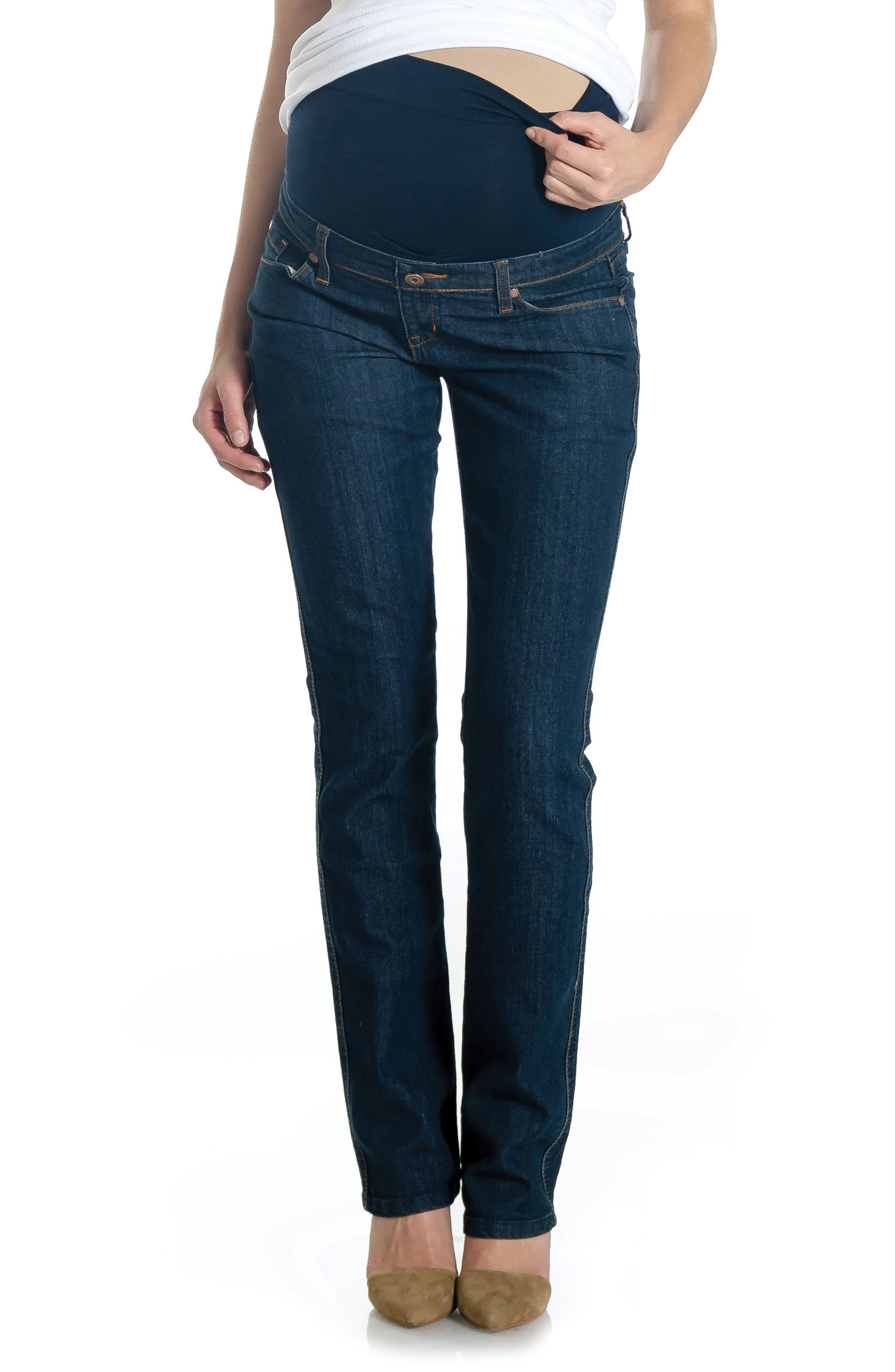 Maternity Jeans,                         Main,                         color, Vintage Dark Wash
