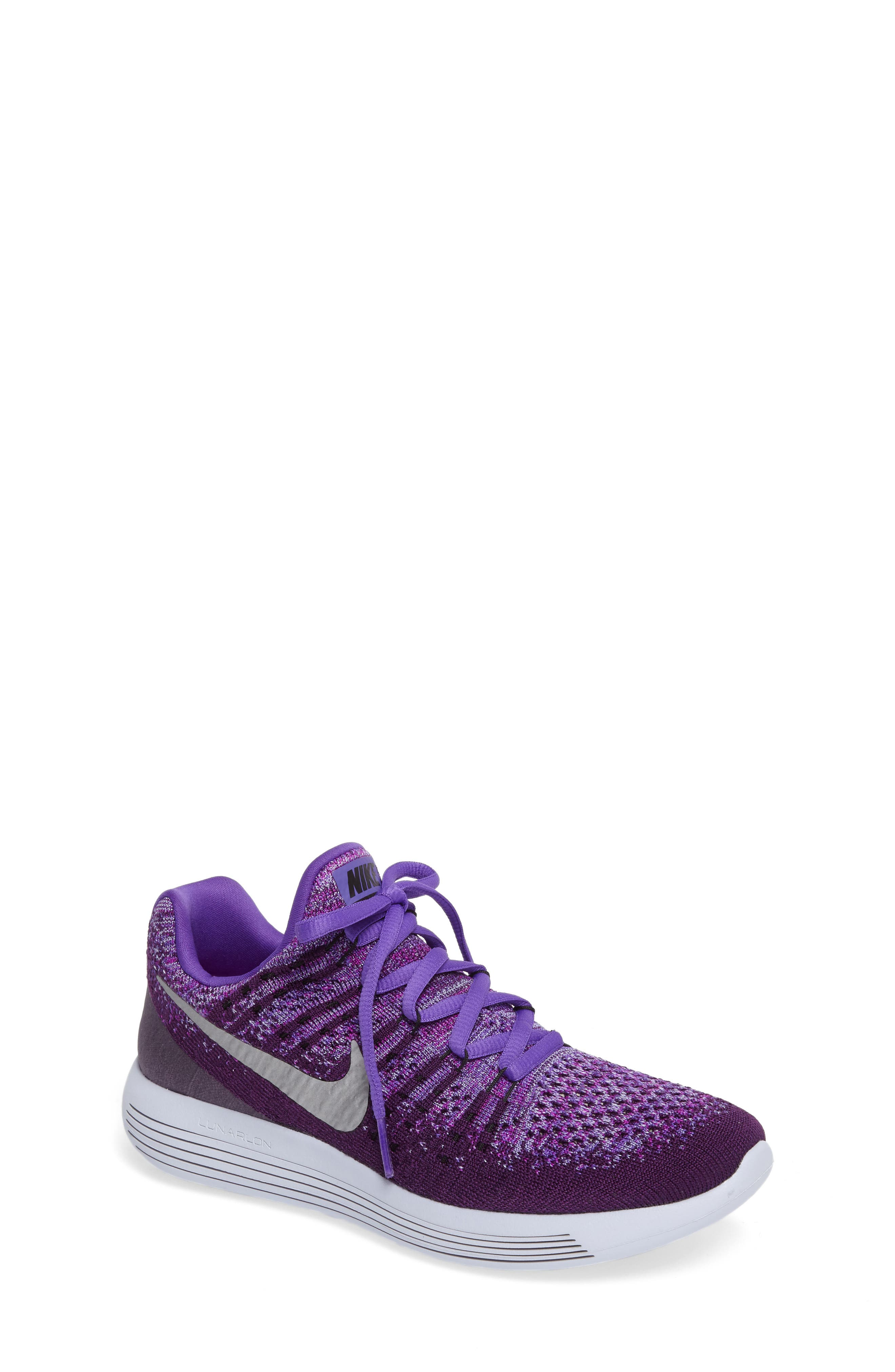 Alternate Image 1 Selected - Nike Flyknit LunarEpic Sneaker (Big Kid)