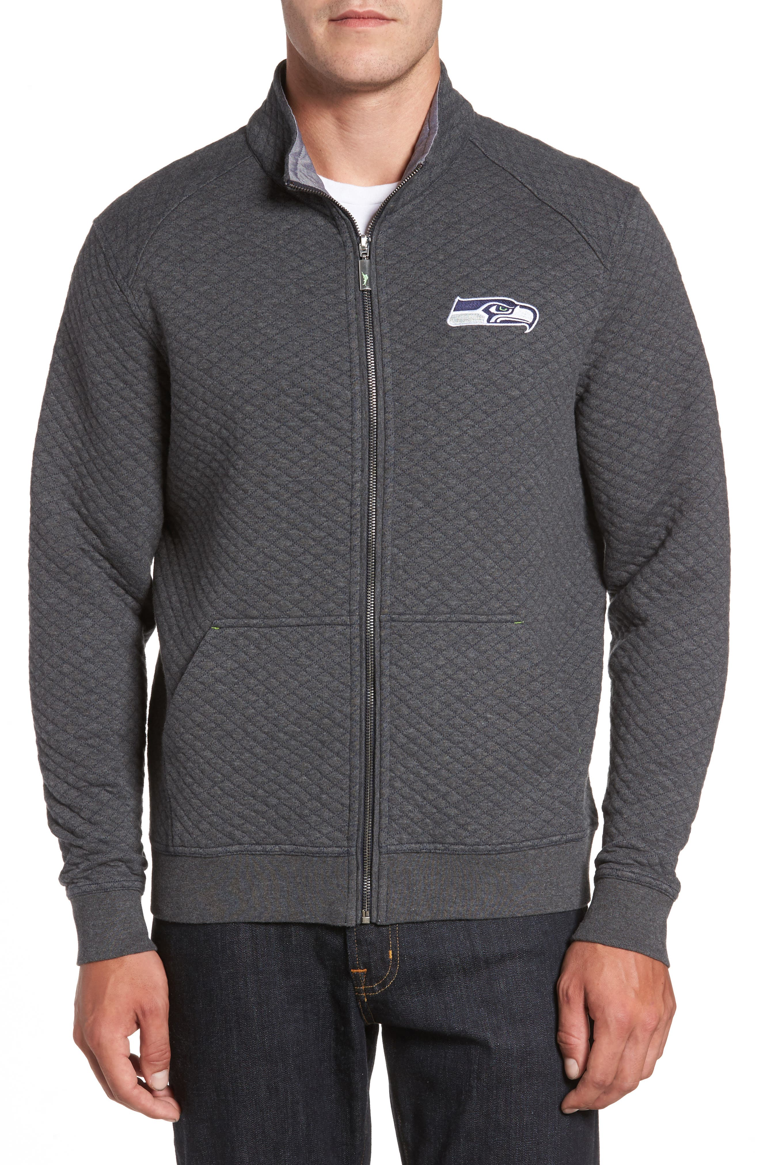 Main Image - Tommy Bahama NFL Quiltessential Full Zip Sweatshirt