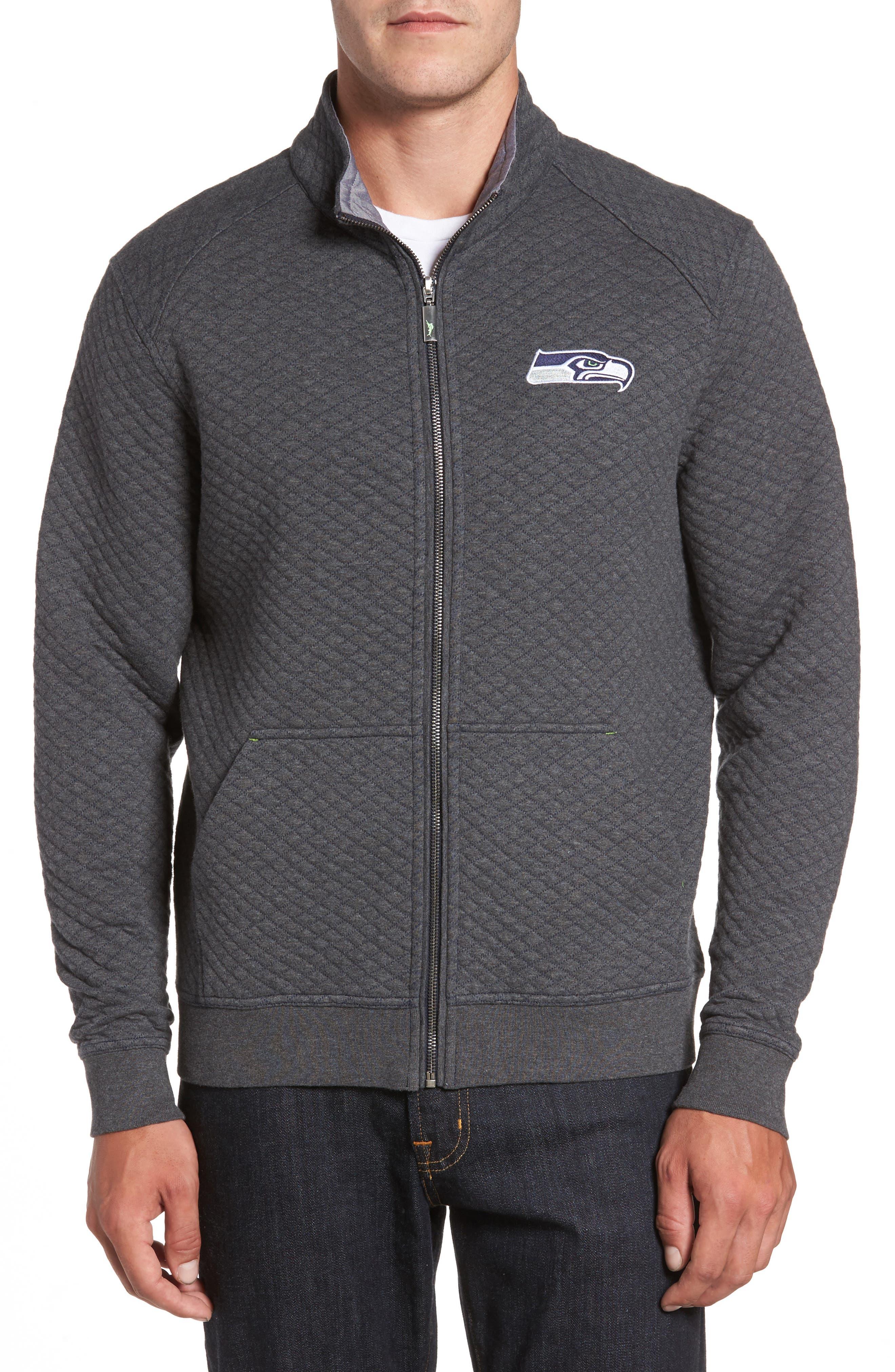 NFL Quiltessential Full Zip Sweatshirt,                         Main,                         color, Seahawks