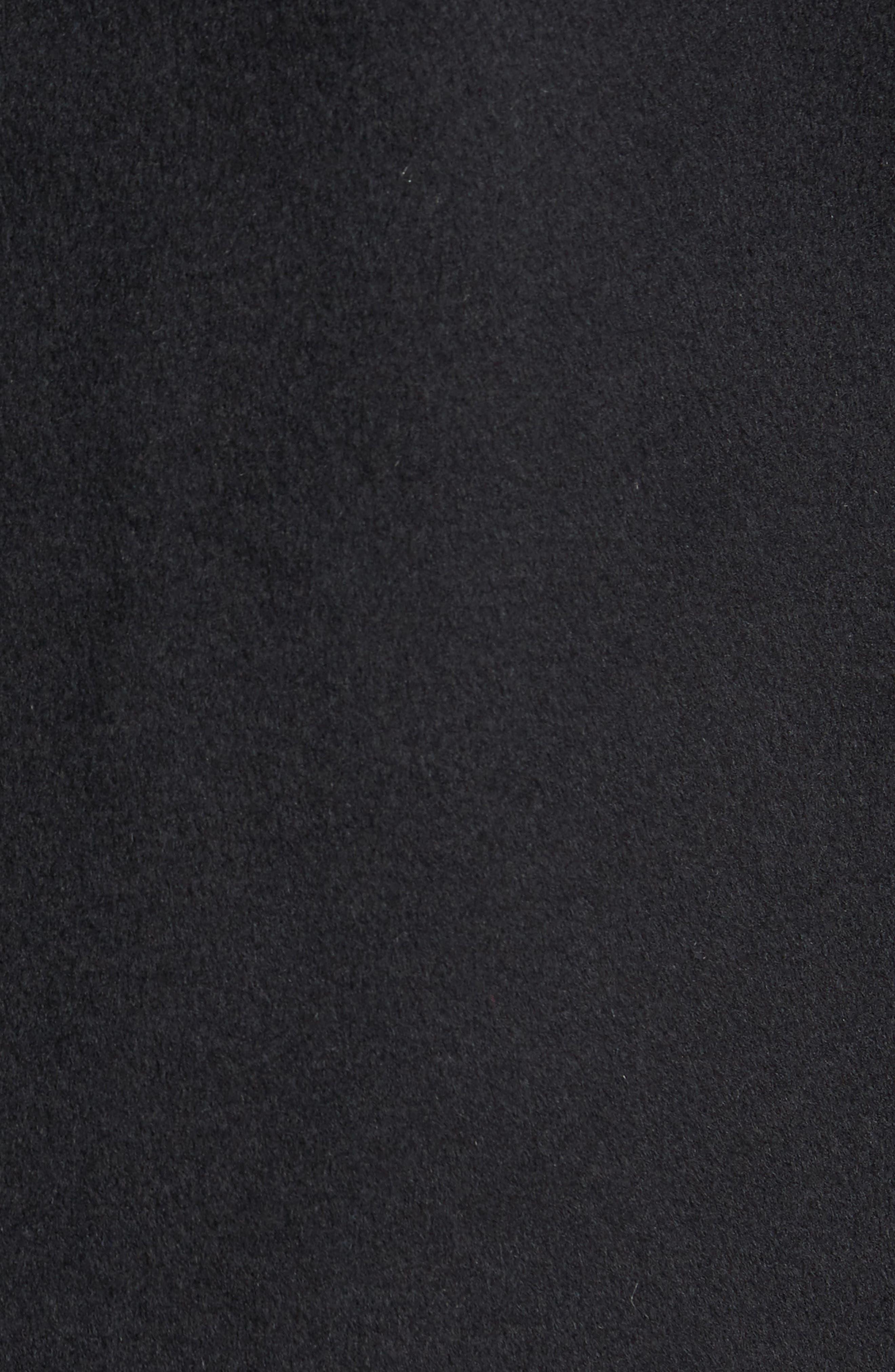 Double Face Wool Blend Car Coat,                             Alternate thumbnail 6, color,                             Black