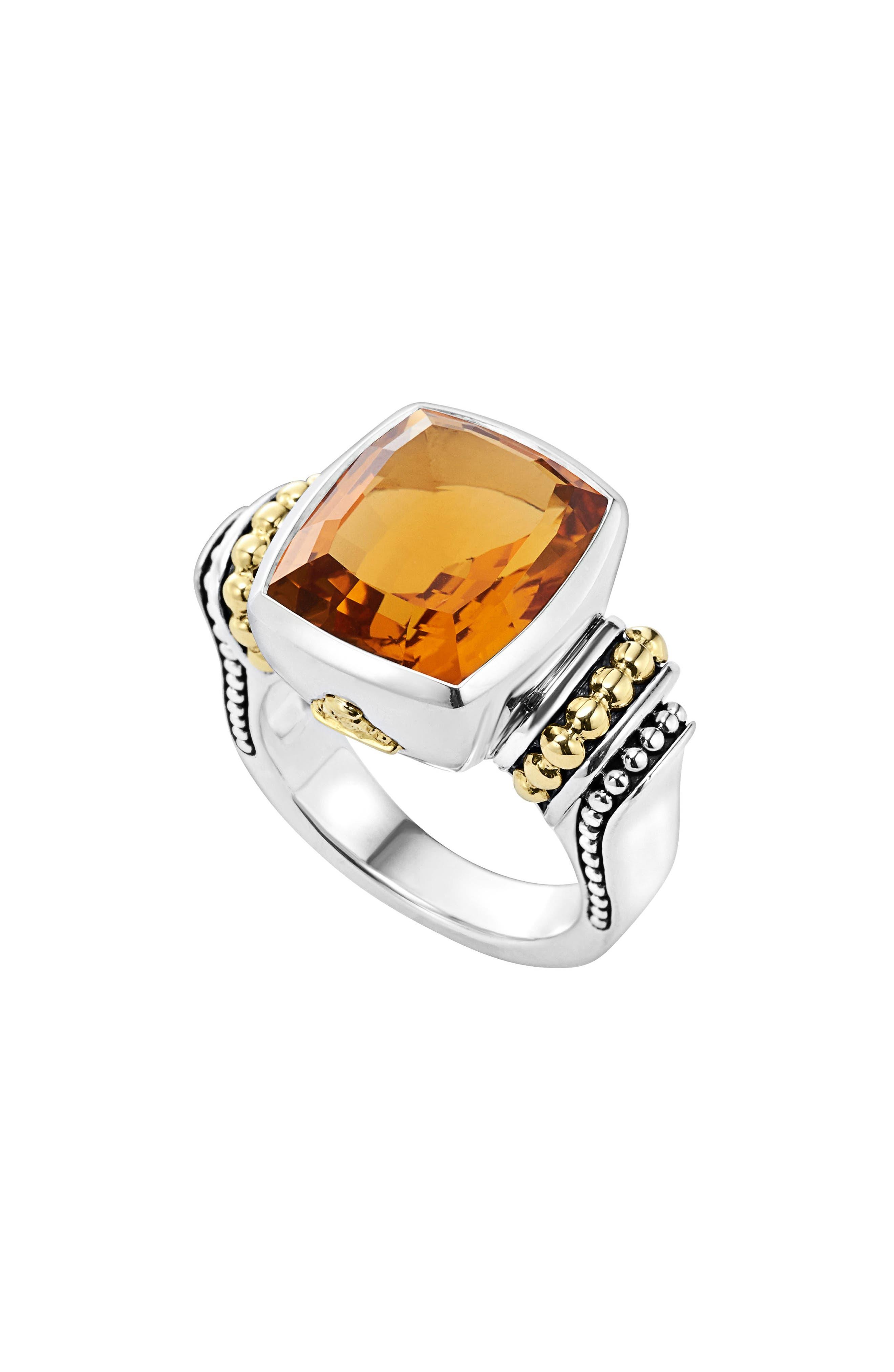 LAGOS 'Caviar Color' Medium Semiprecious Stone Ring