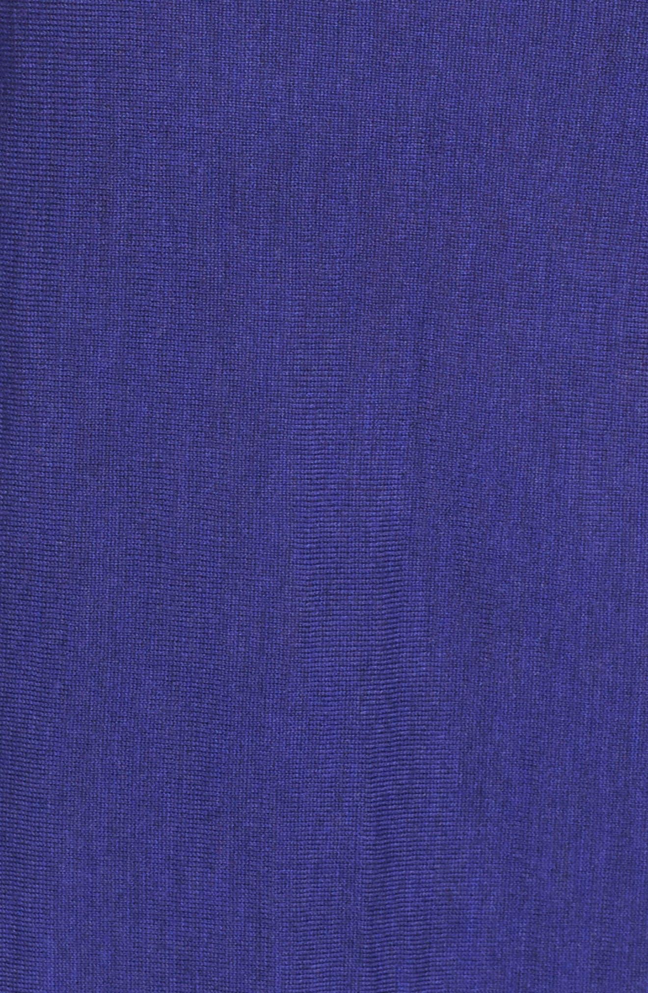 Round Neck Merino Sweater,                             Alternate thumbnail 4, color,                             Venus