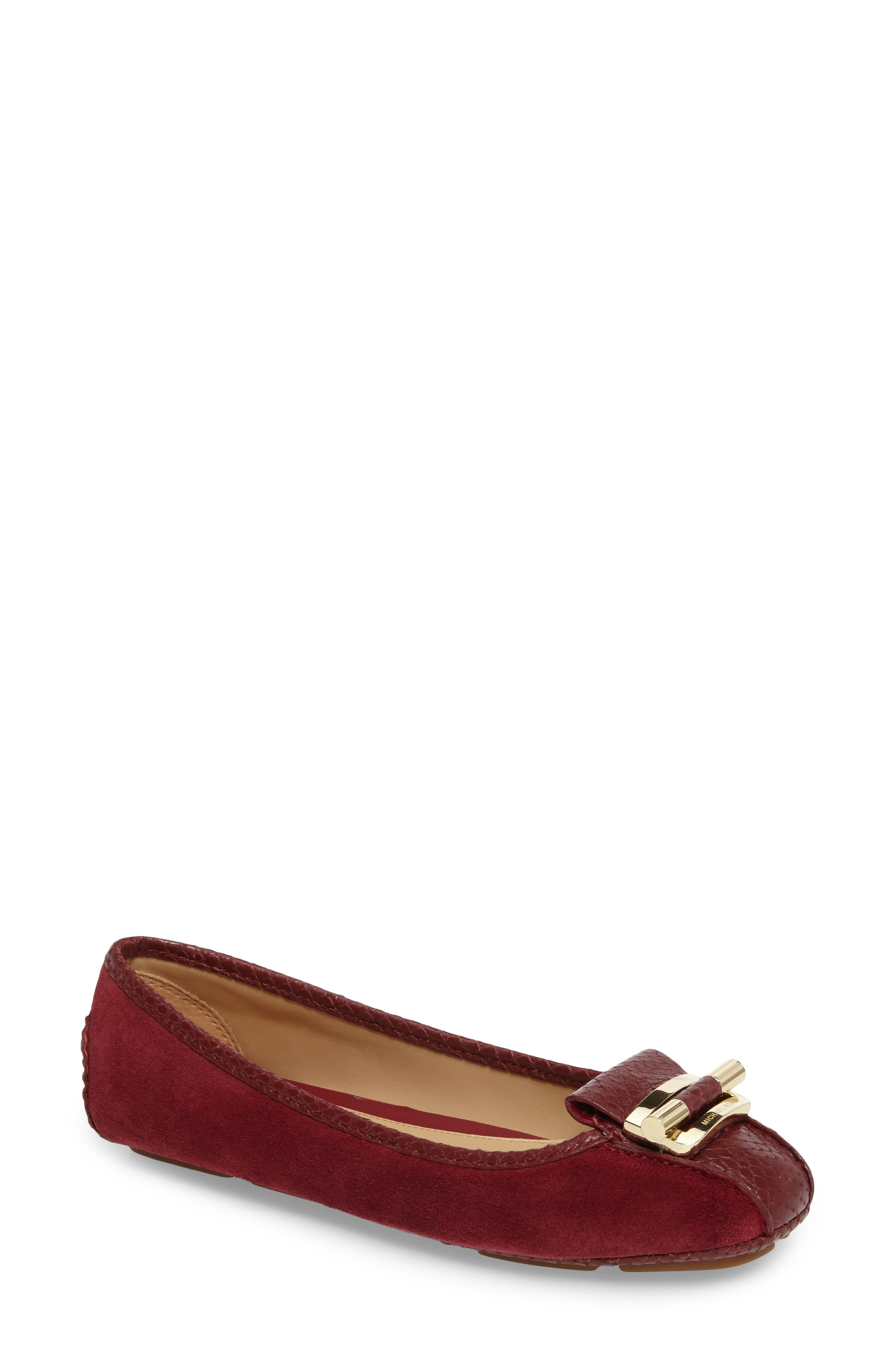 Gloria Flat,                         Main,                         color, Mulberry Snake Print Suede