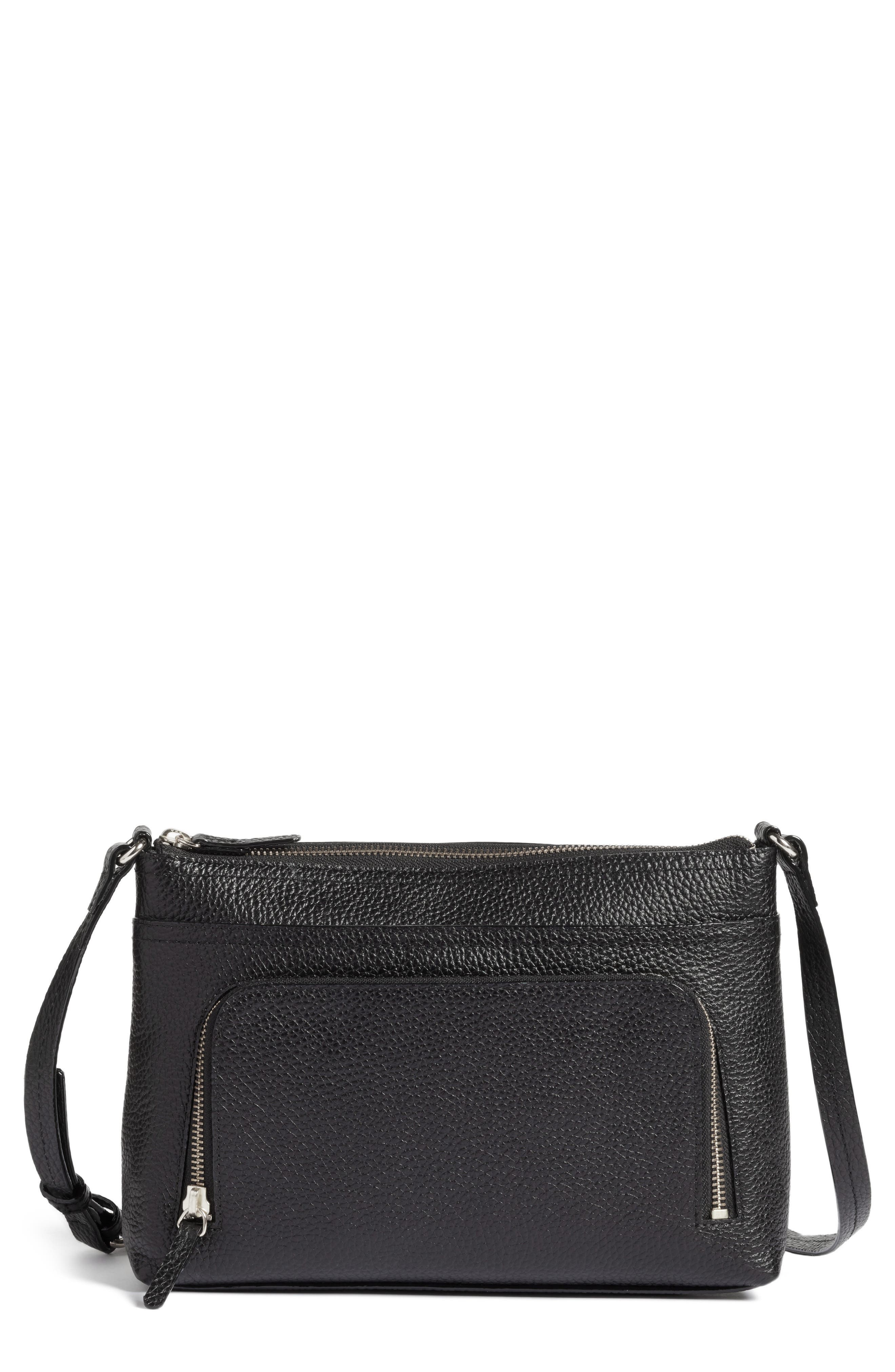 Alternate Image 1 Selected - Nordstrom Pebbled Leather Crossbody Bag