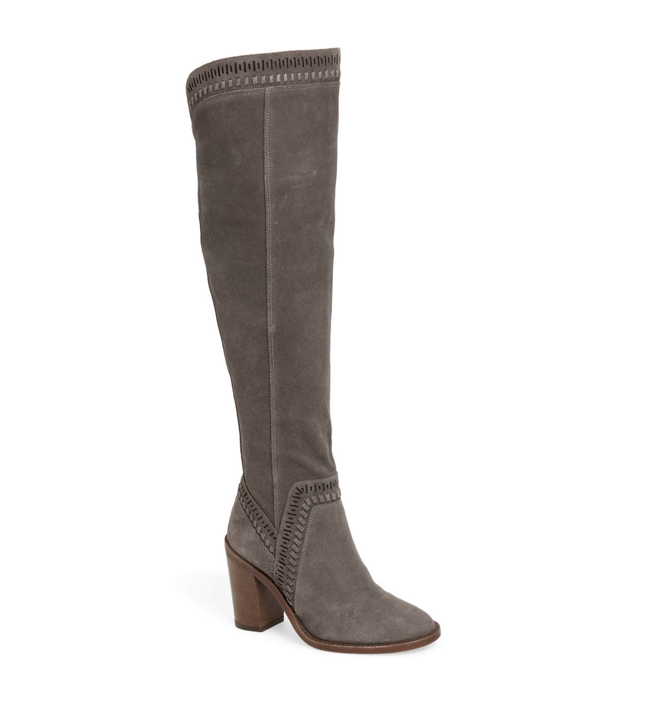 Grey Over the Knee Boot