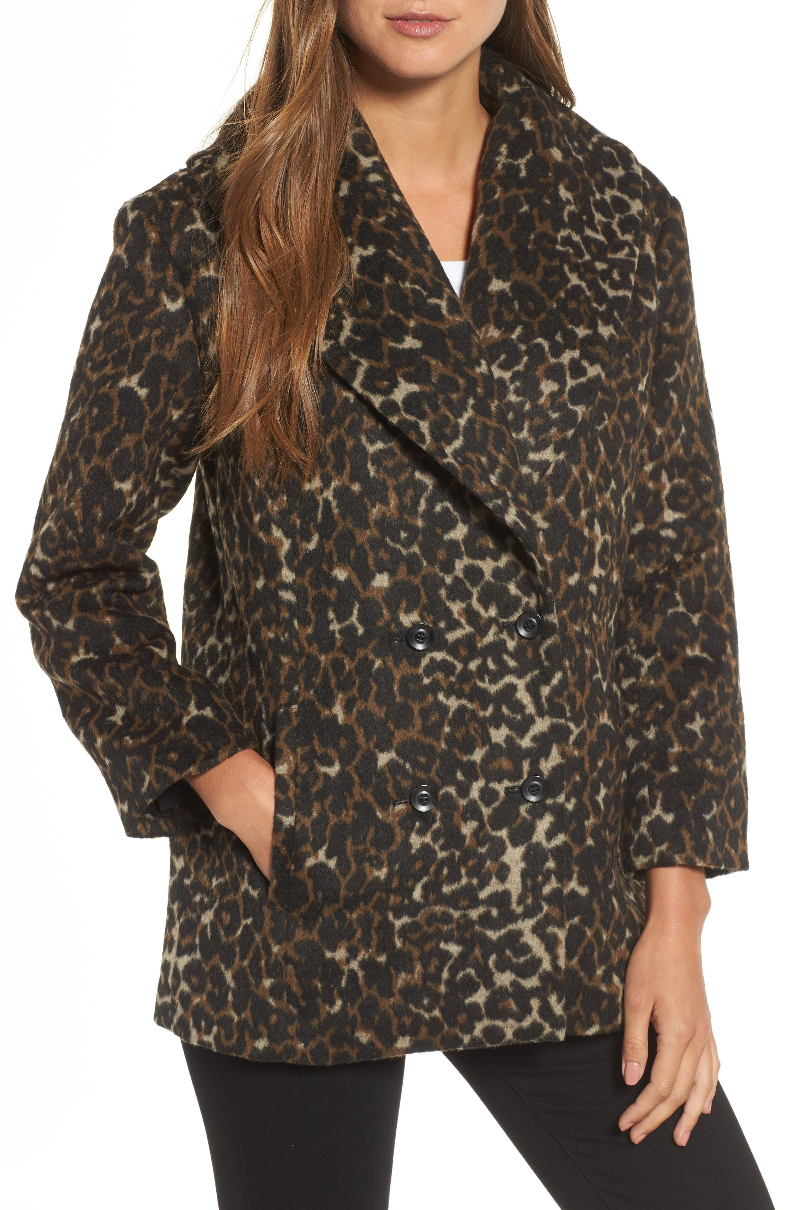 Main Image - Hinge Animal Print Coat