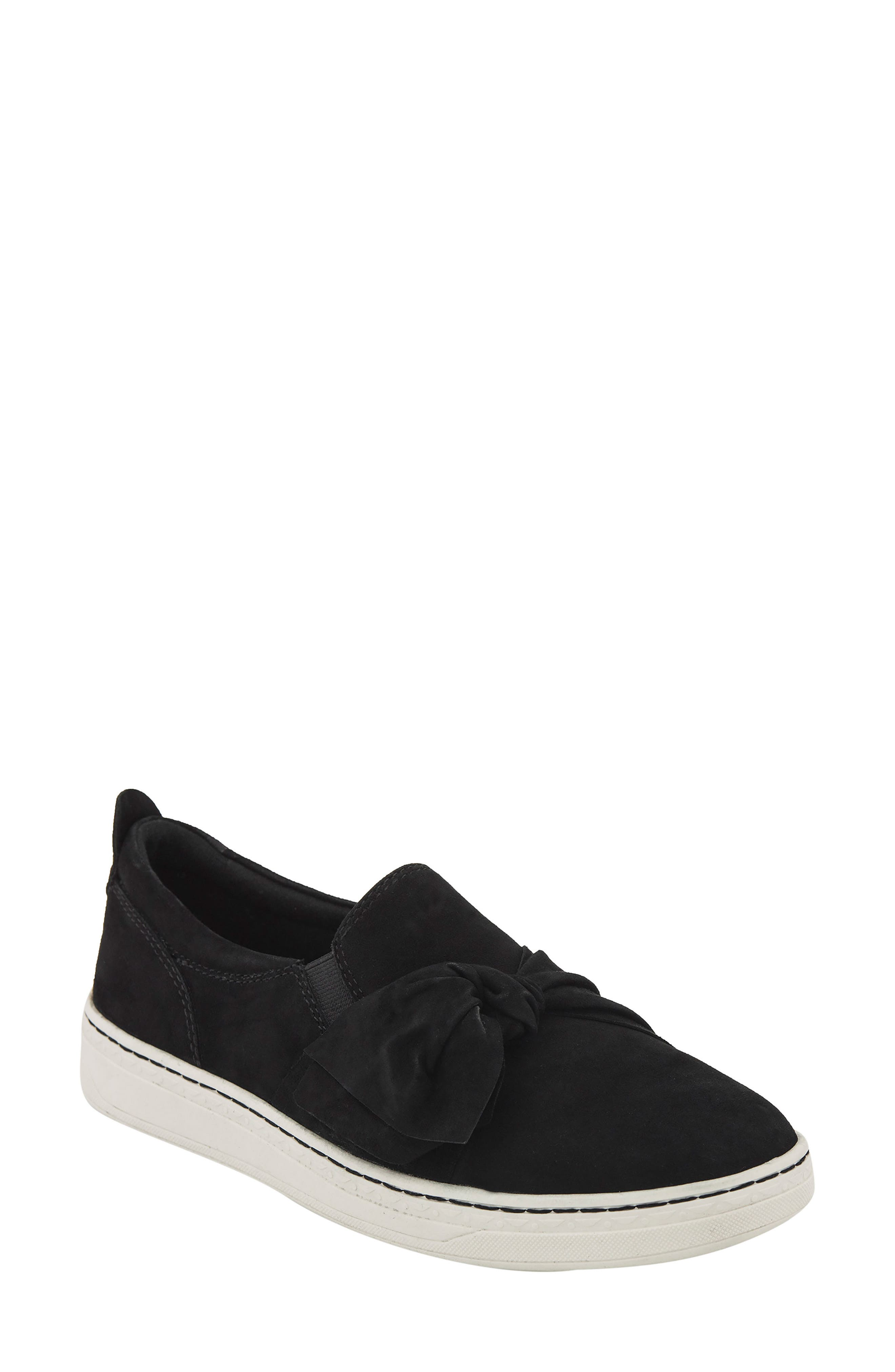 Zoey Slip-On,                         Main,                         color, Black Suede Fabric