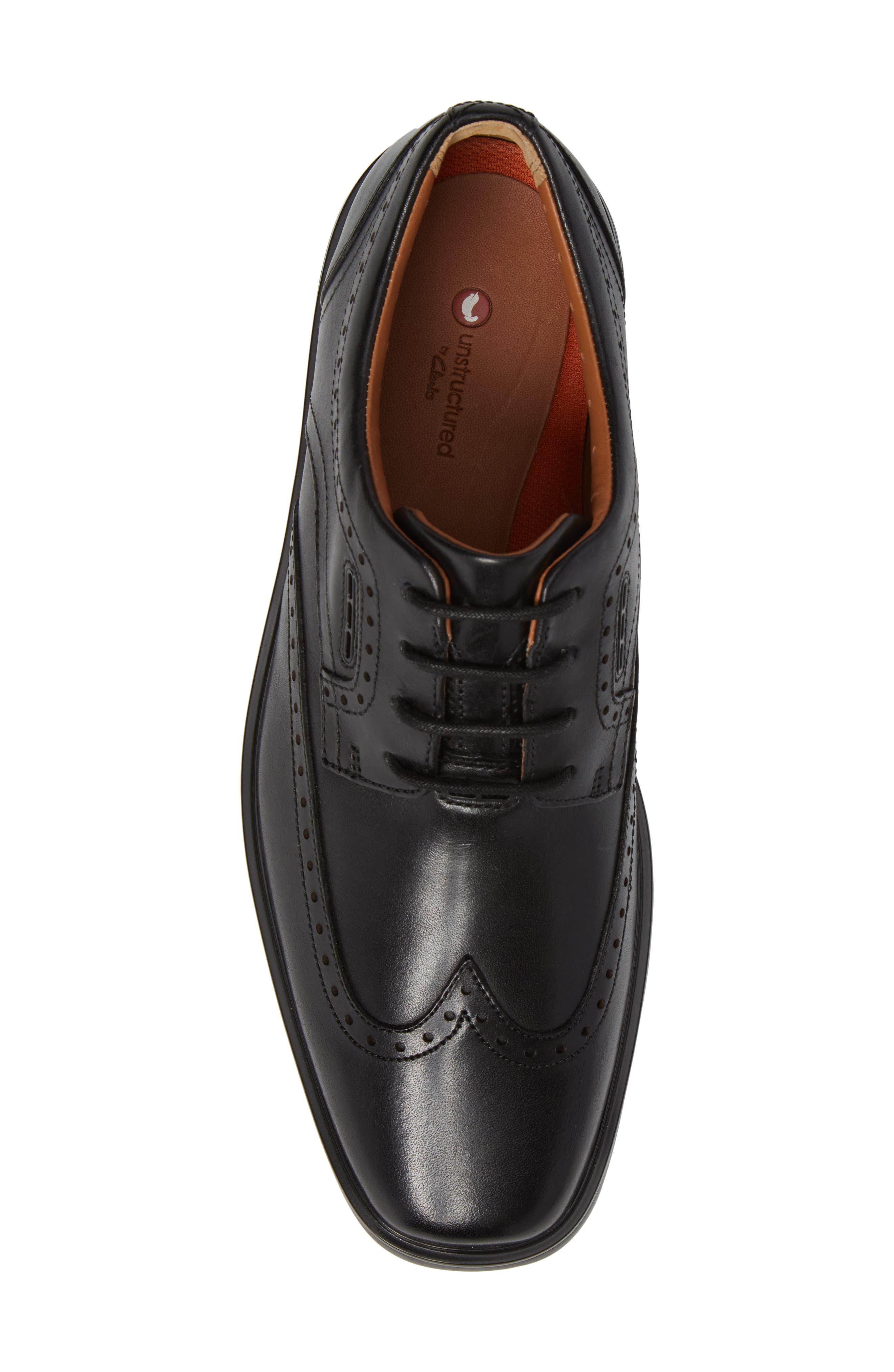 Unbrylan Wingtip Oxford,                             Alternate thumbnail 5, color,                             Black Leather
