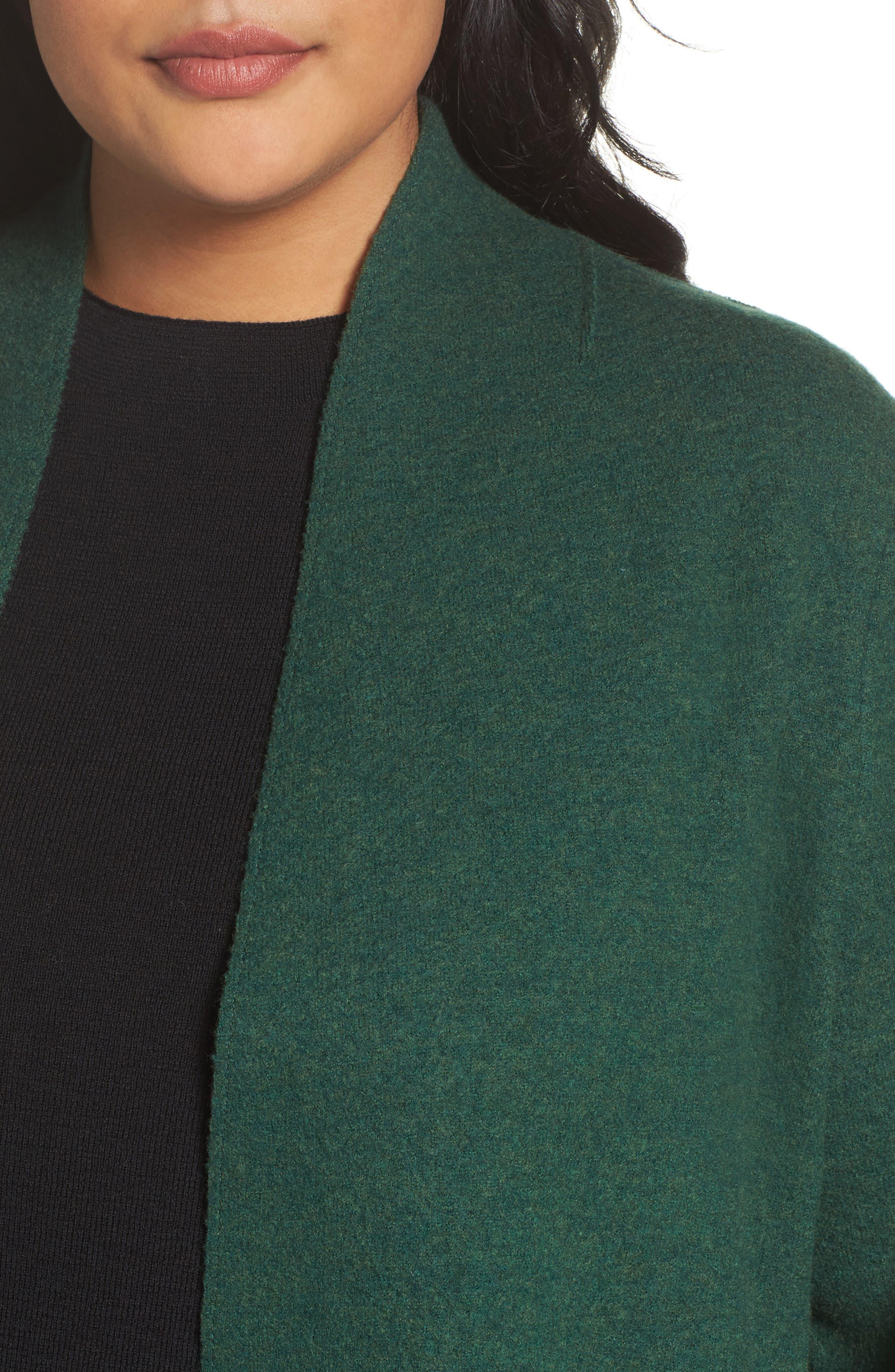 Alternate Image 4  - Eileen Fisher Boiled Wool Jacket (Plus Size)