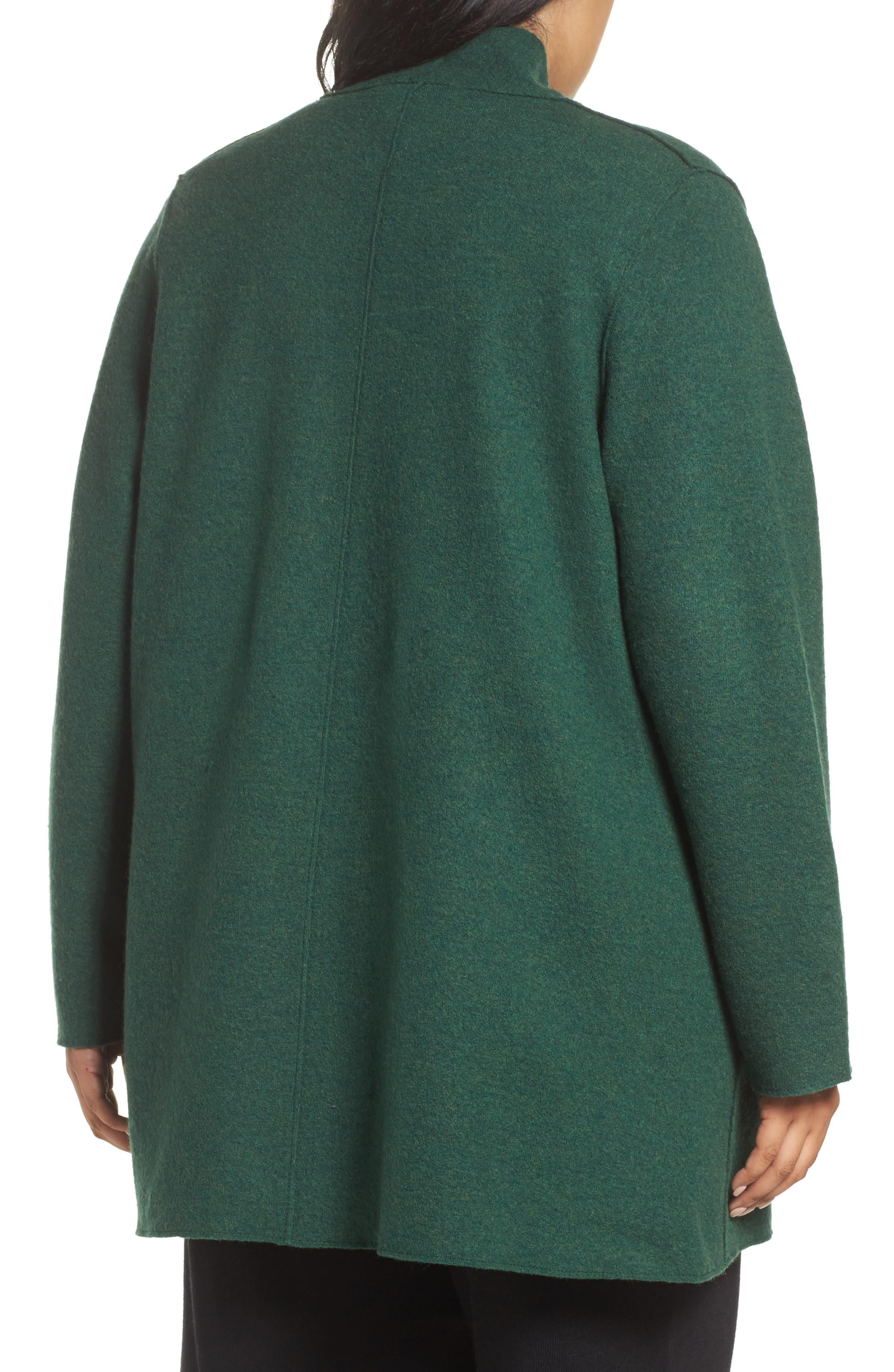 Alternate Image 2  - Eileen Fisher Boiled Wool Jacket (Plus Size)