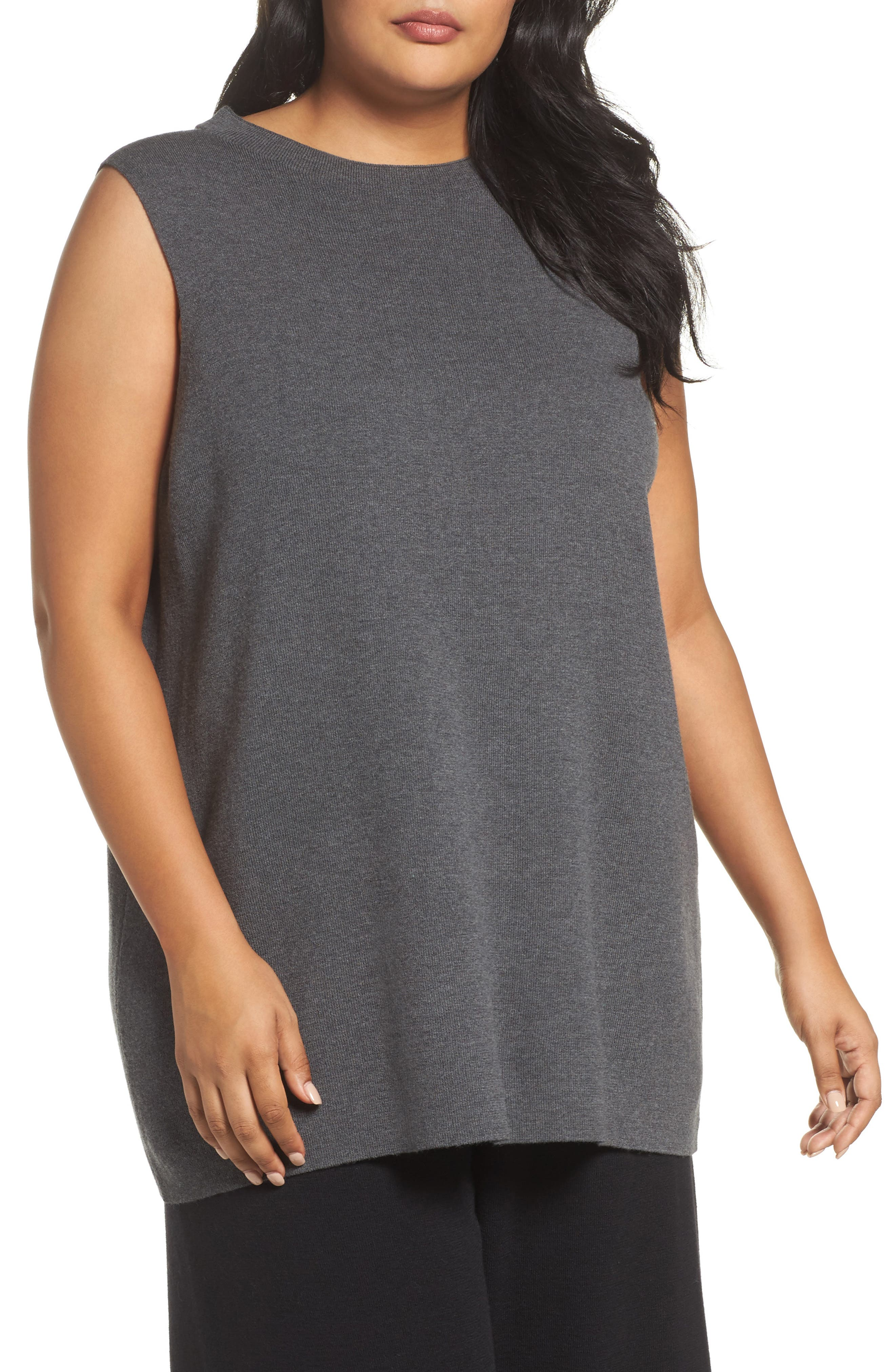 Eileen Fisher Wool Knit Tunic (Plus Size)