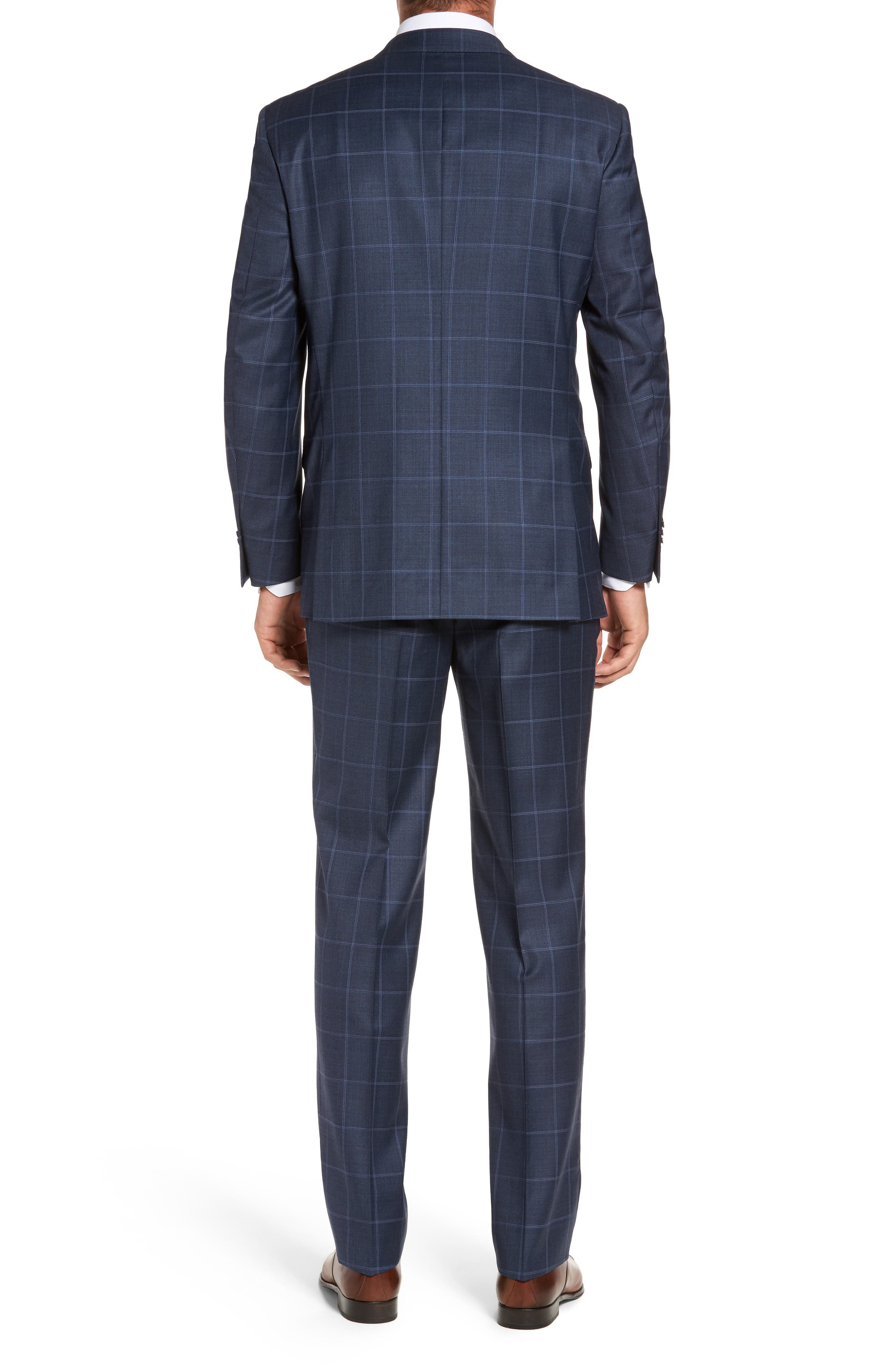 Flynn Classic Fit Windowpane Wool Suit,                             Alternate thumbnail 2, color,                             Blue