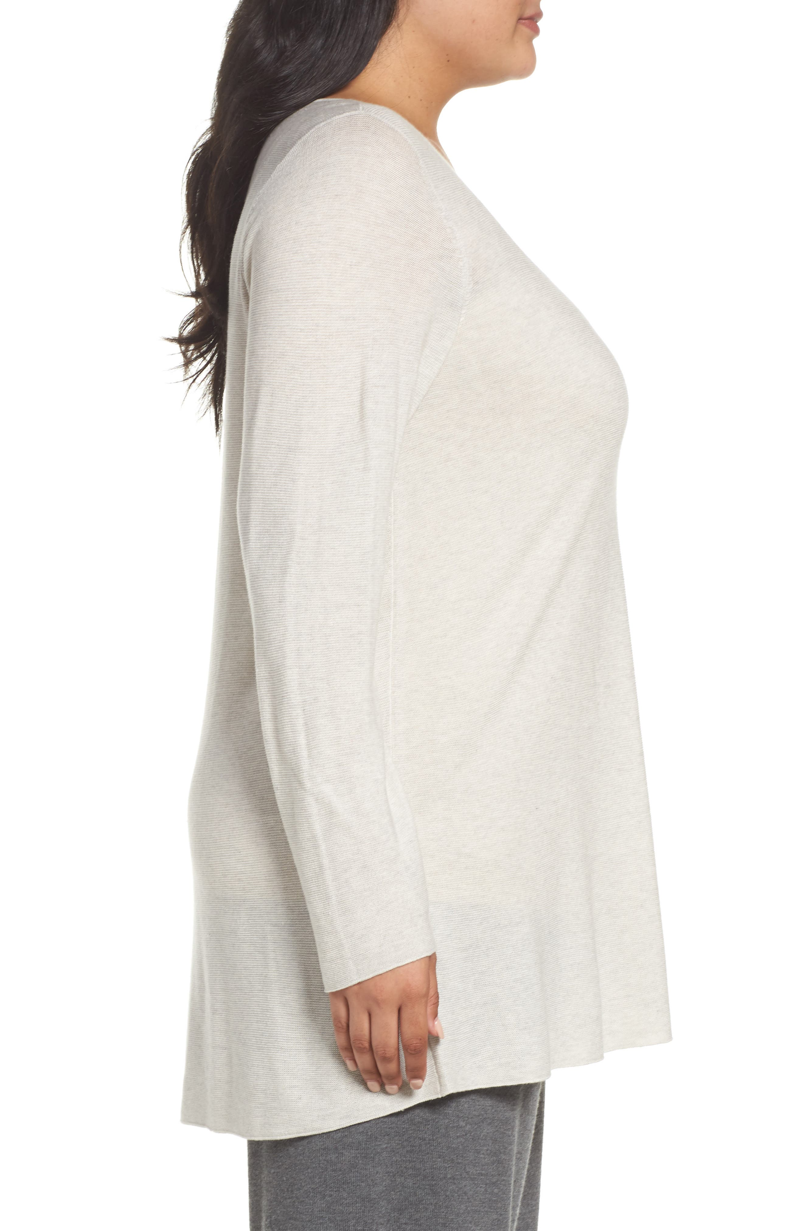 Alternate Image 3  - Eileen Fisher Jewel Neck Tunic Sweater (Plus Size)