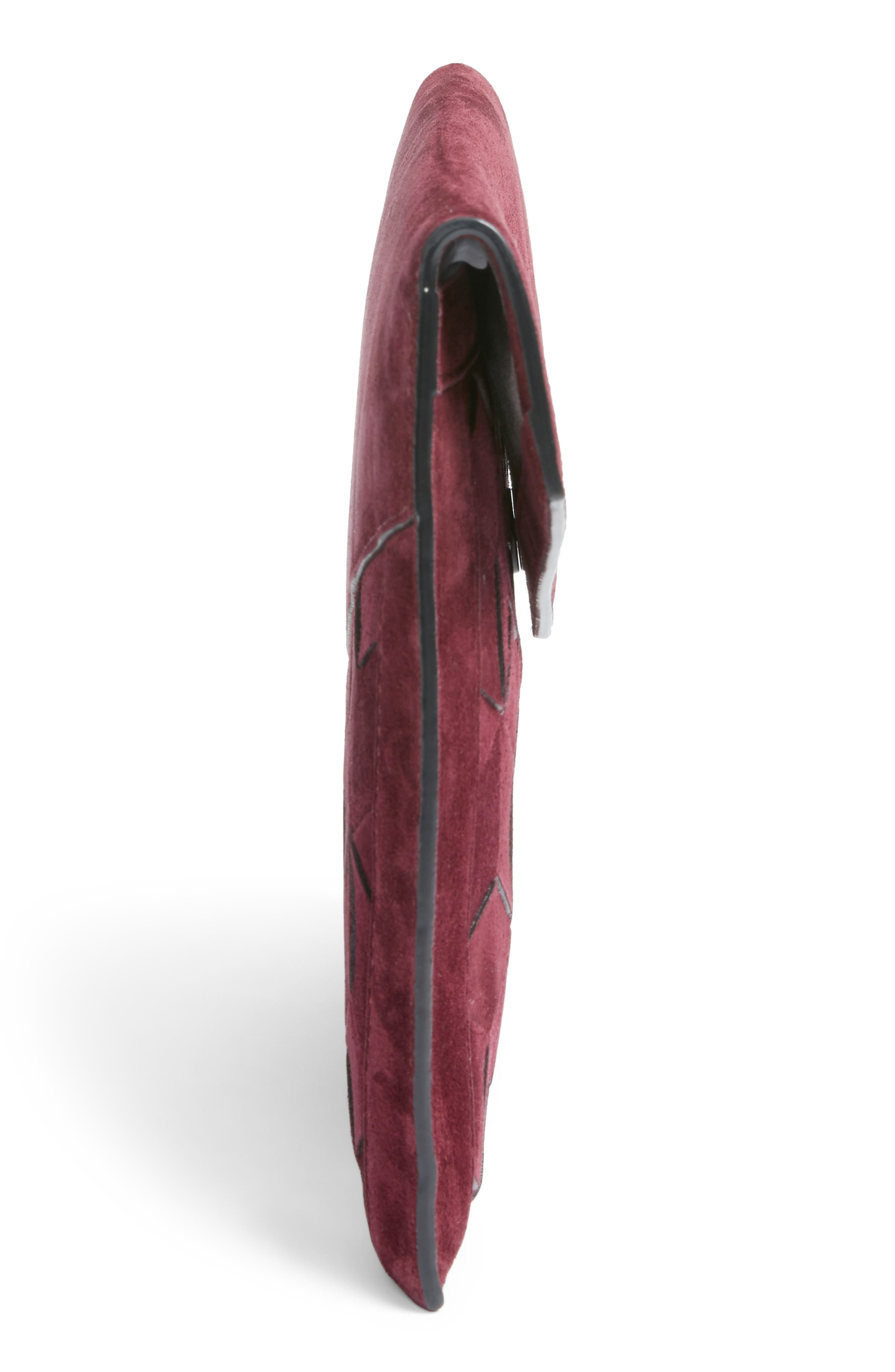 Alternate Image 4  - Welden Mingle Woven Calfskin Suede Clutch
