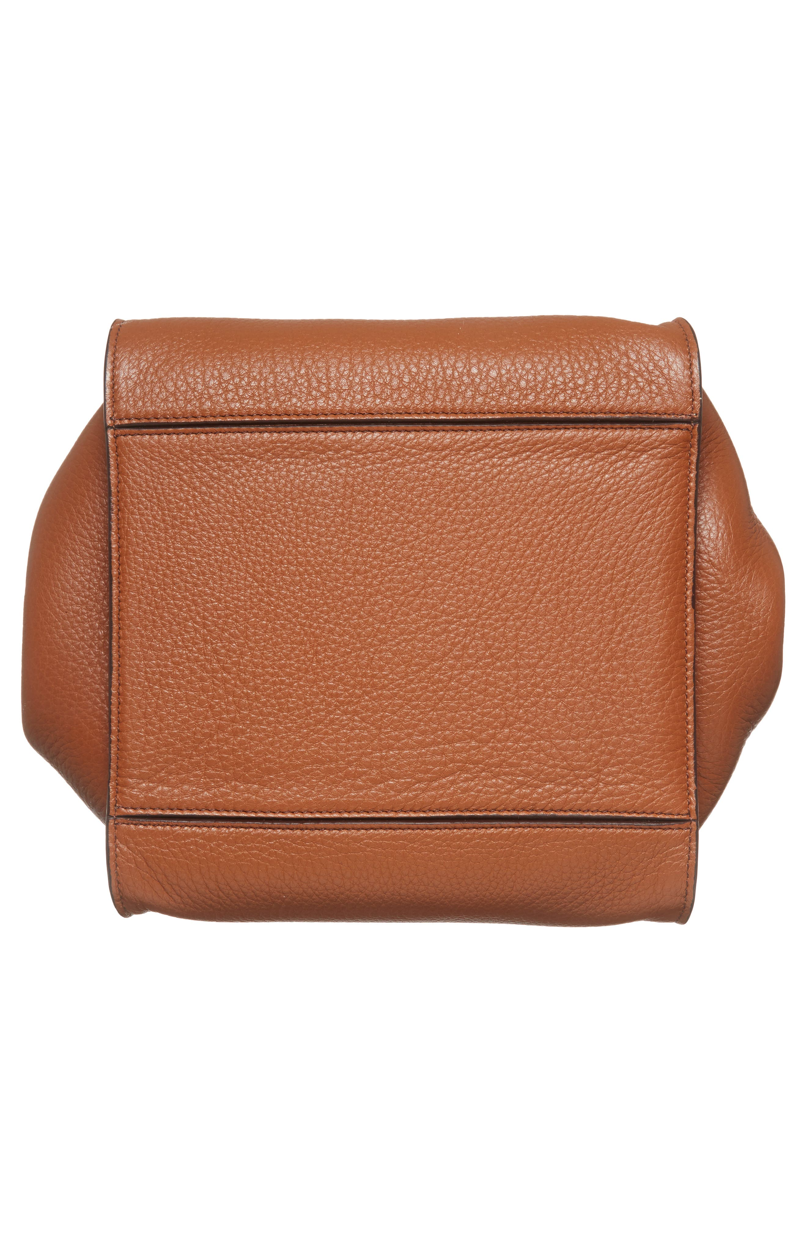 Deerskin Leather Satchel,                             Alternate thumbnail 6, color,                             Cuoio