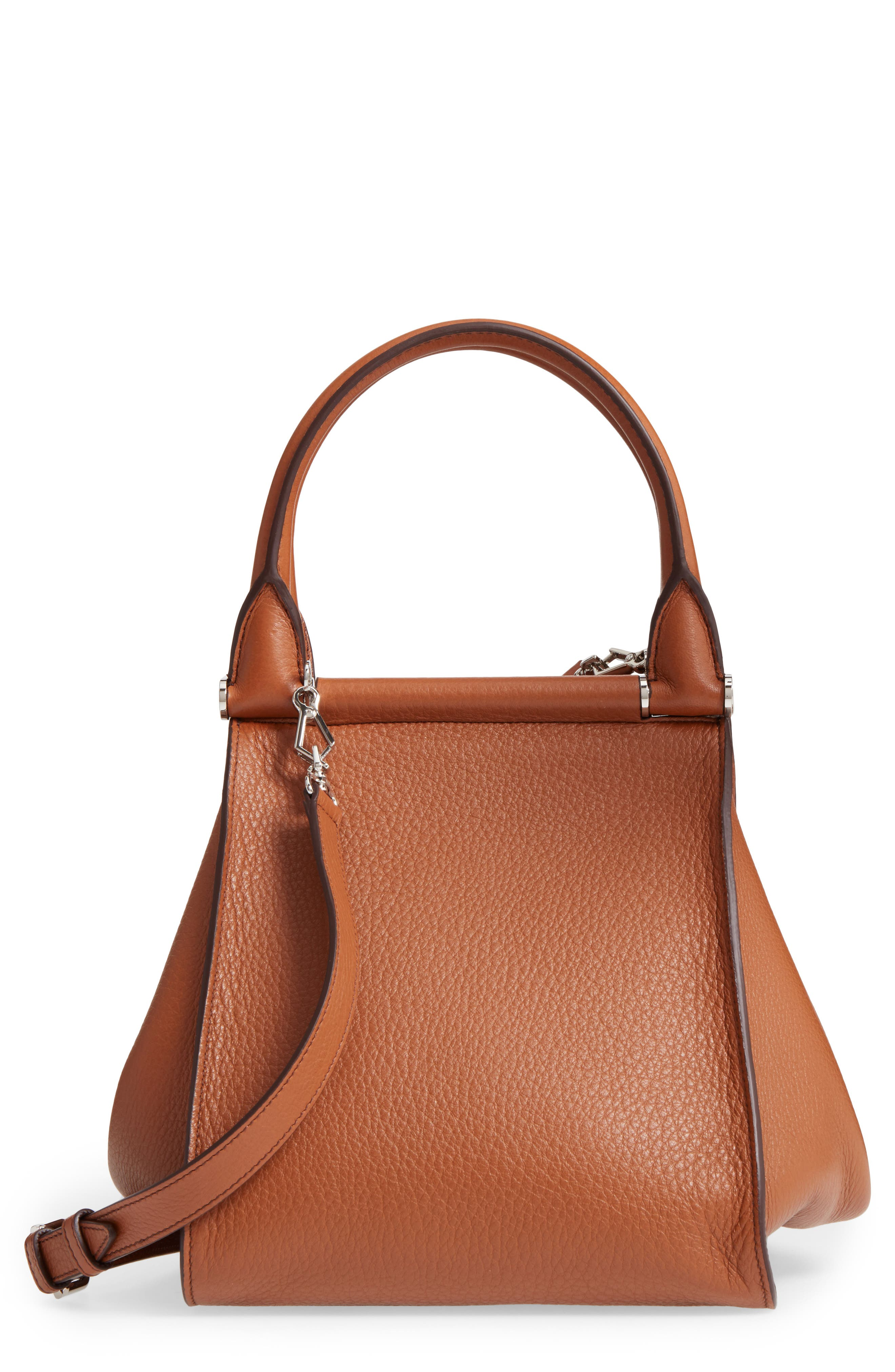 Deerskin Leather Satchel,                             Main thumbnail 1, color,                             Cuoio