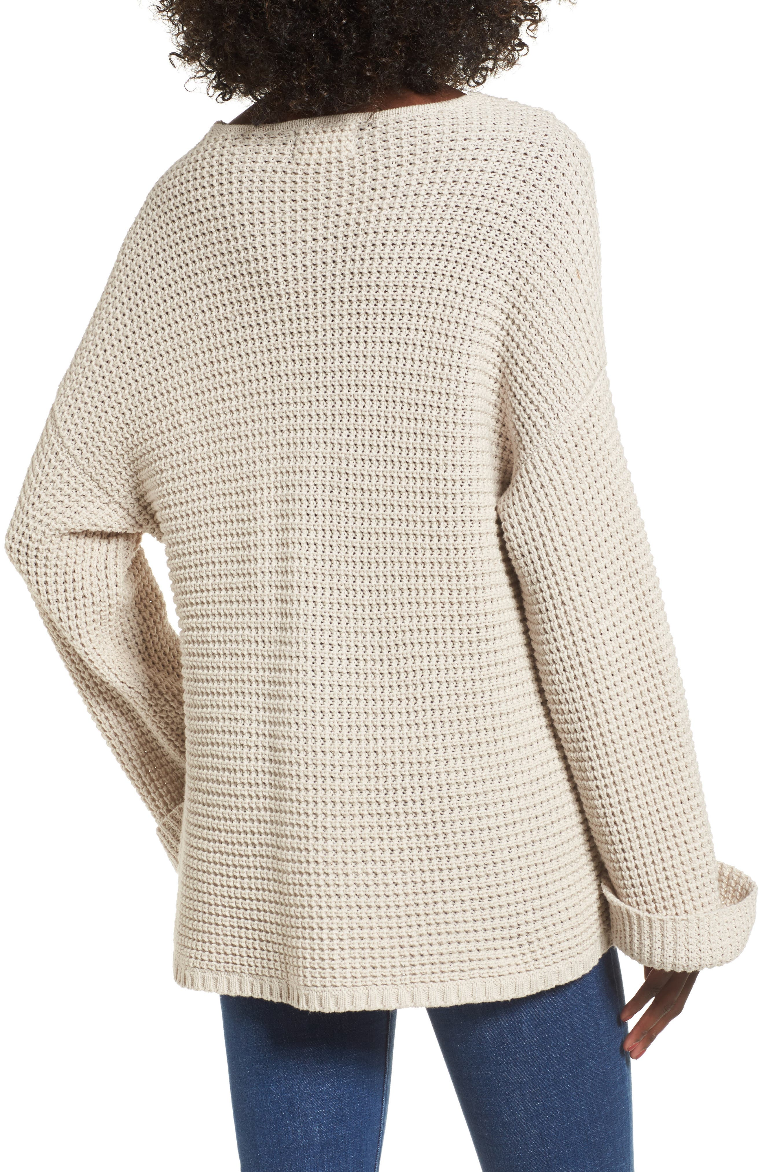 Adelia Bell Sleeve Sweater,                             Alternate thumbnail 2, color,                             Creme