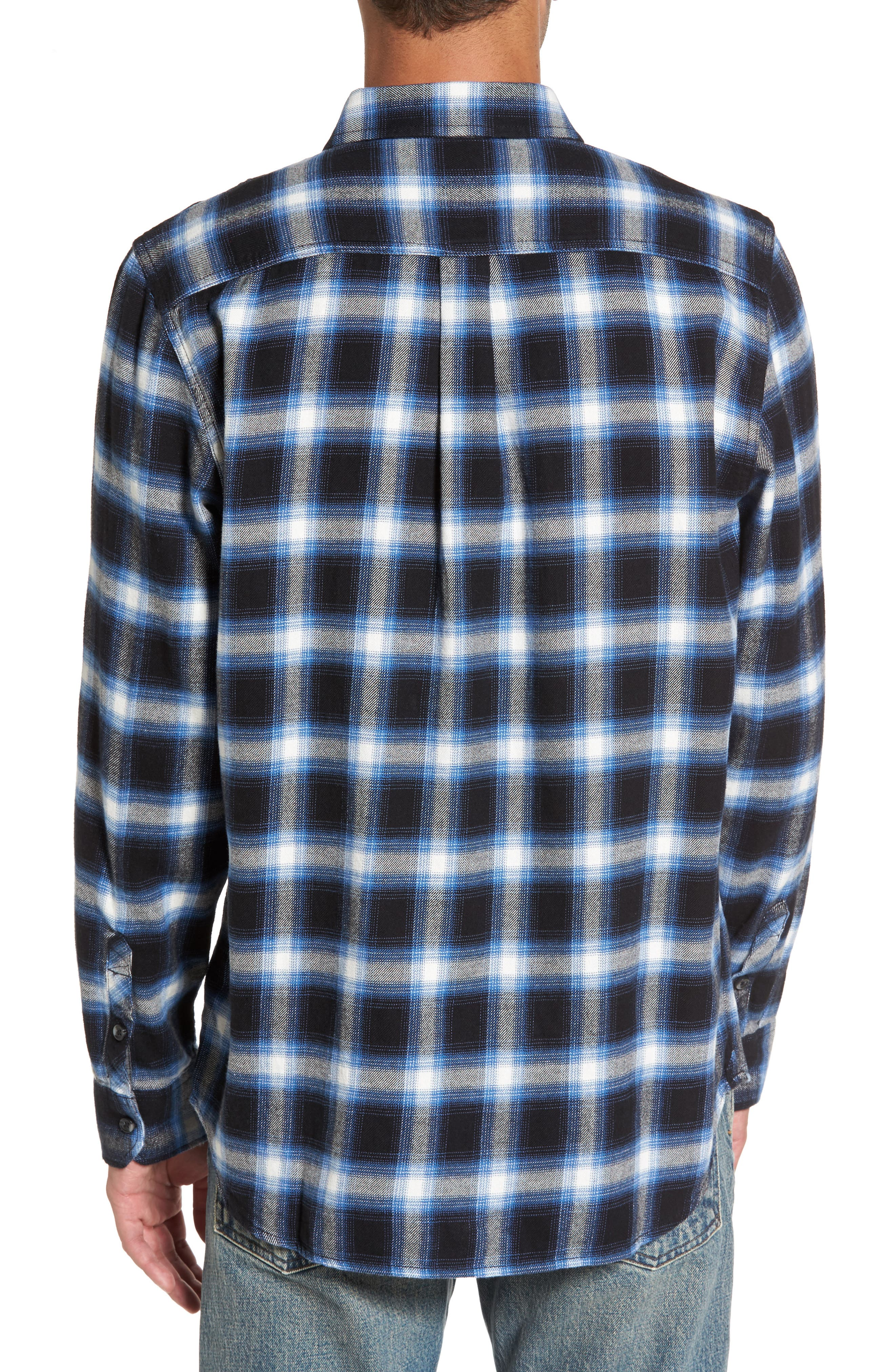 Beachwood Flannel Shirt,                             Alternate thumbnail 2, color,                             Black/ Delft
