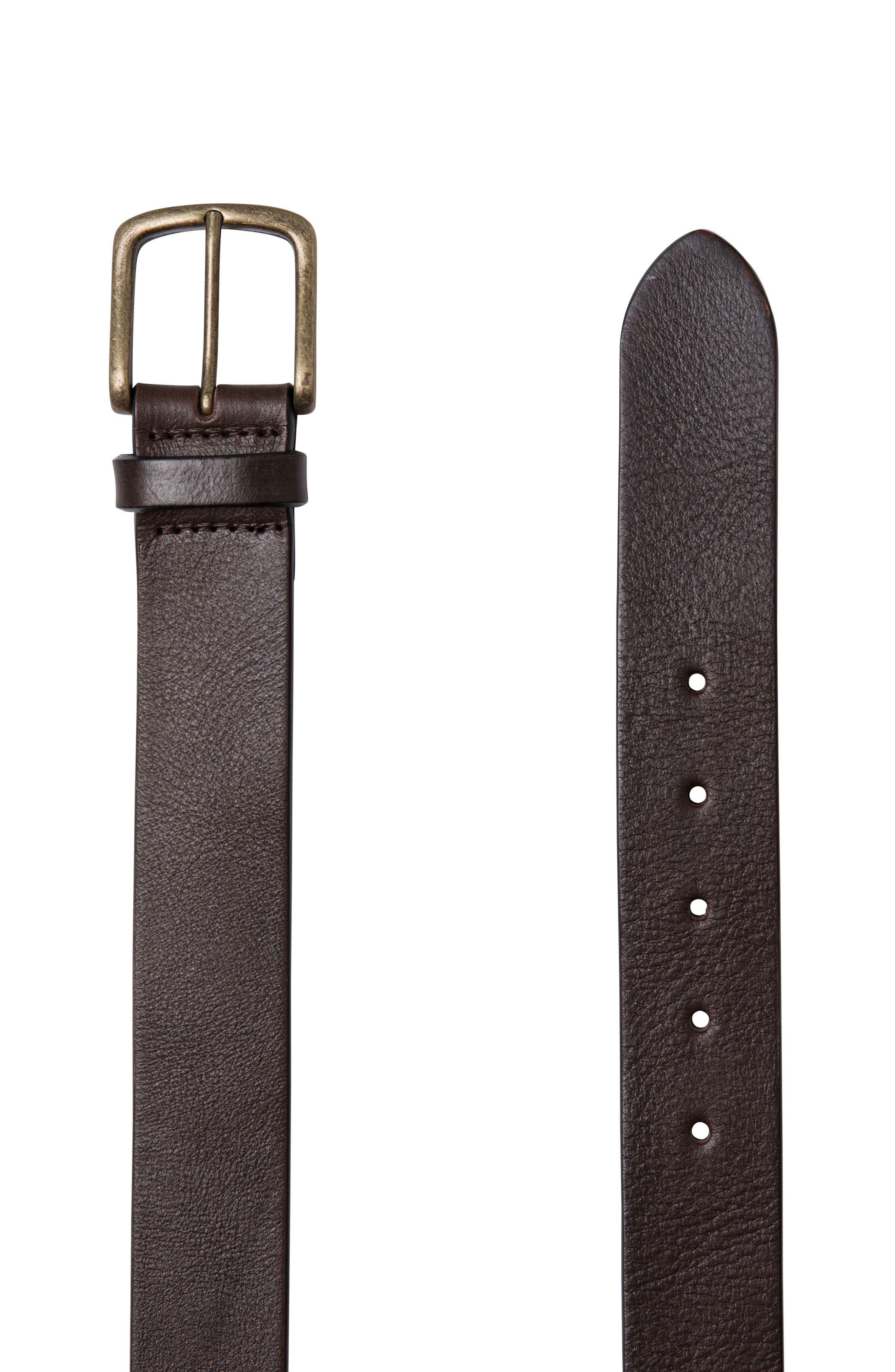 Treble Cone Leather Belt,                         Main,                         color, Mud
