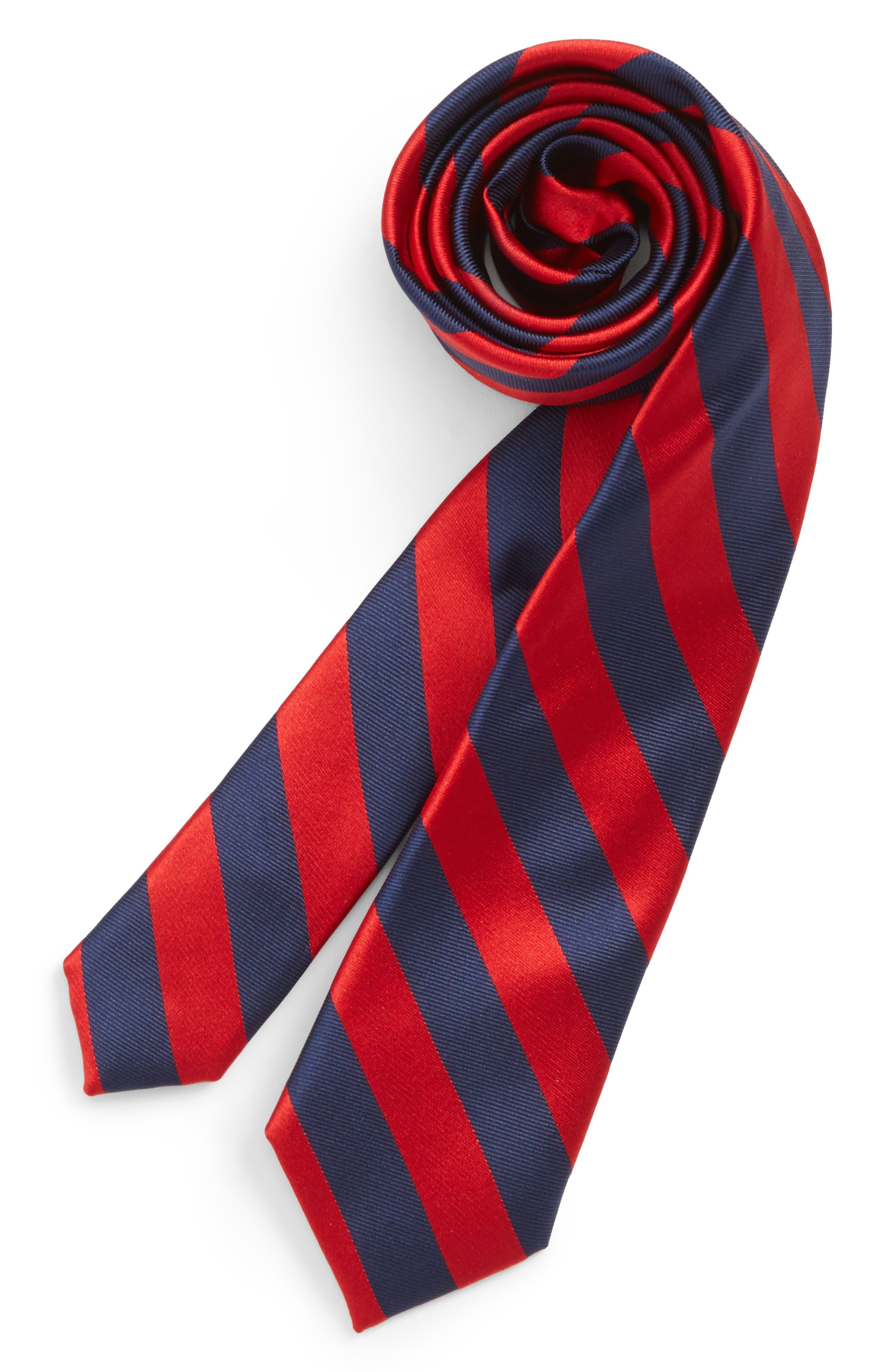 Alternate Image 1 Selected - Nordstrom Stripe Silk Tie (Big Boys)