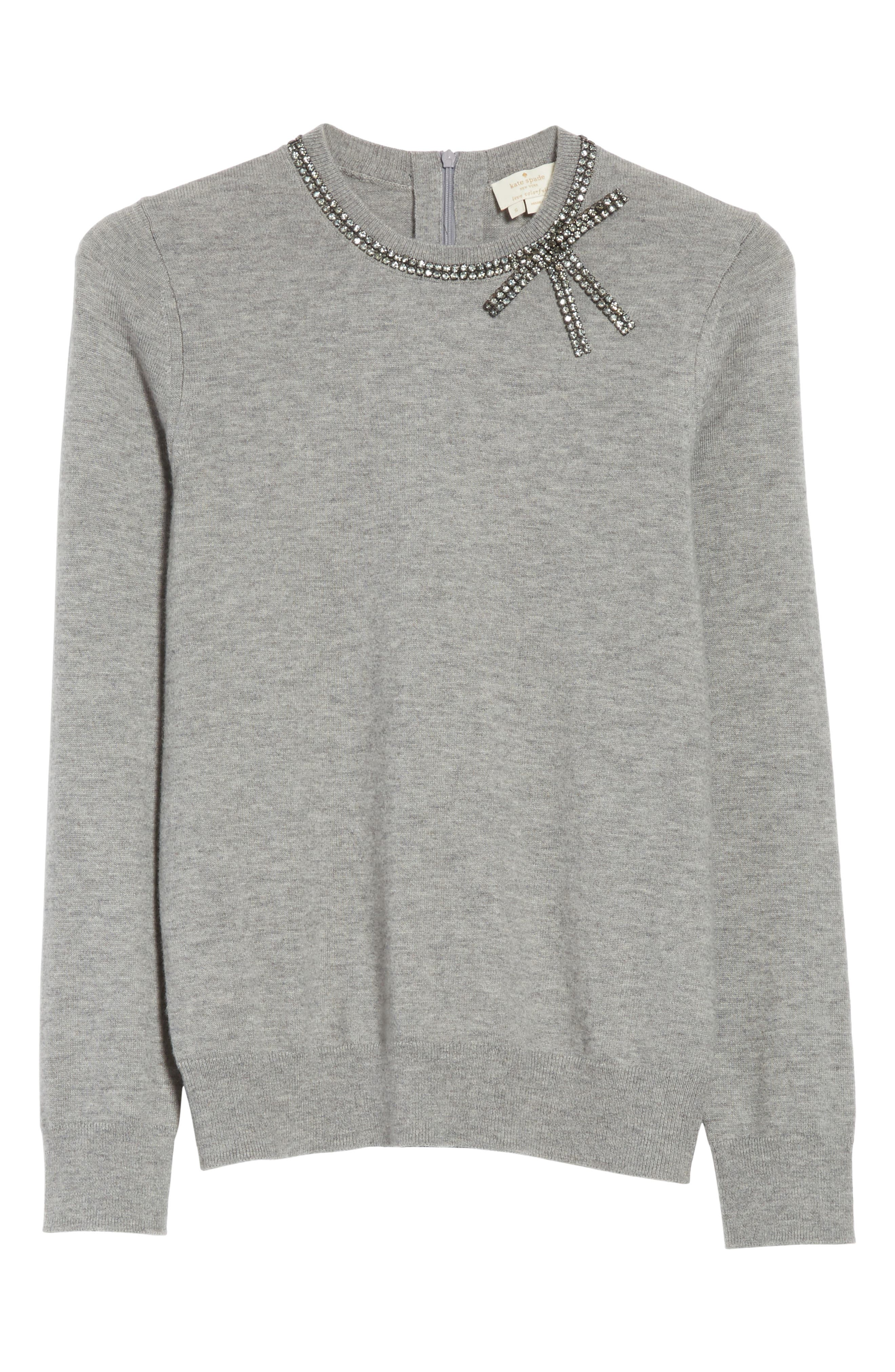 kate spade new york bow embellished sweater