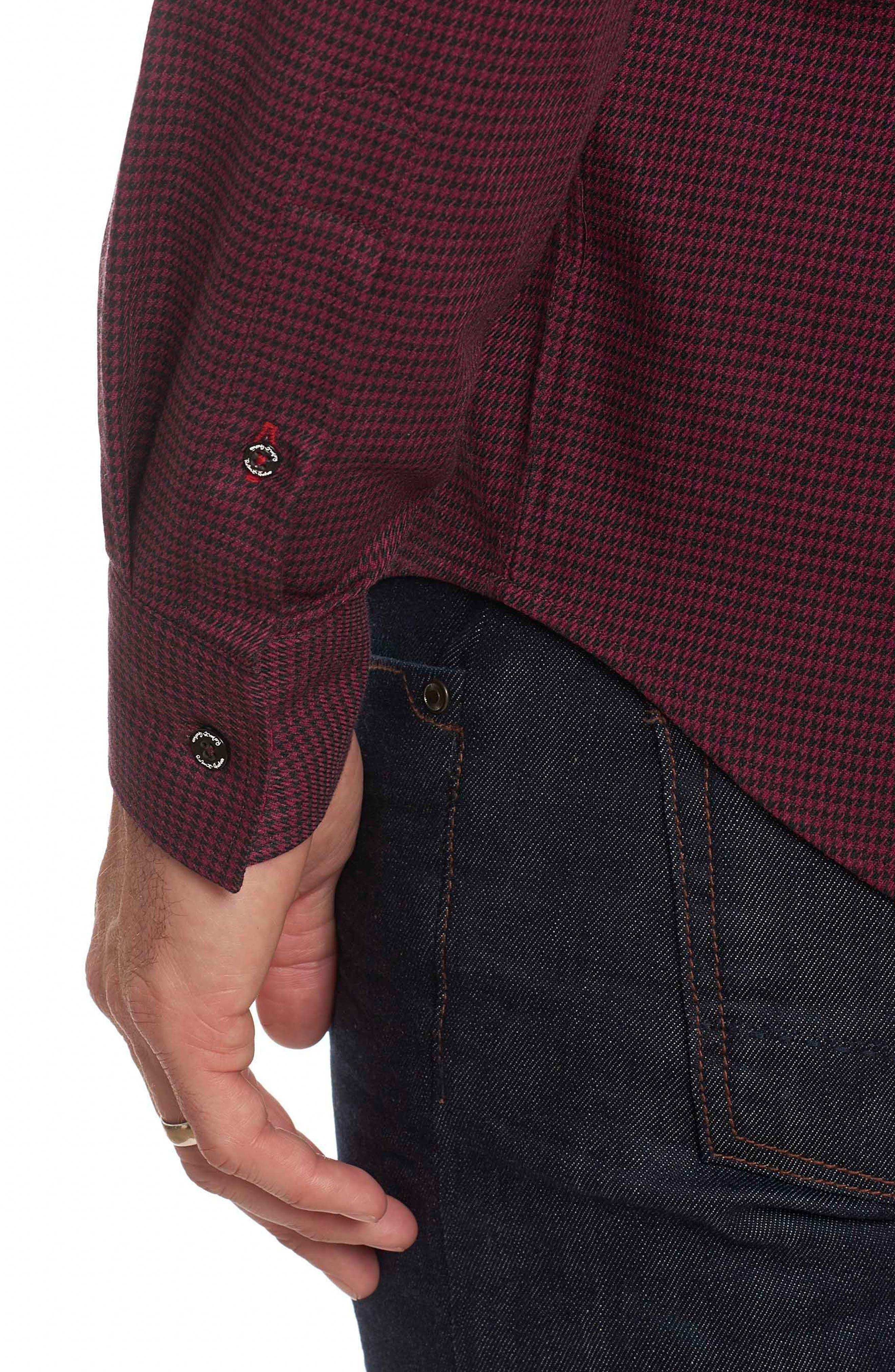 Alternate Image 4  - Robert Graham Colin Tailored Fit Sport Shirt