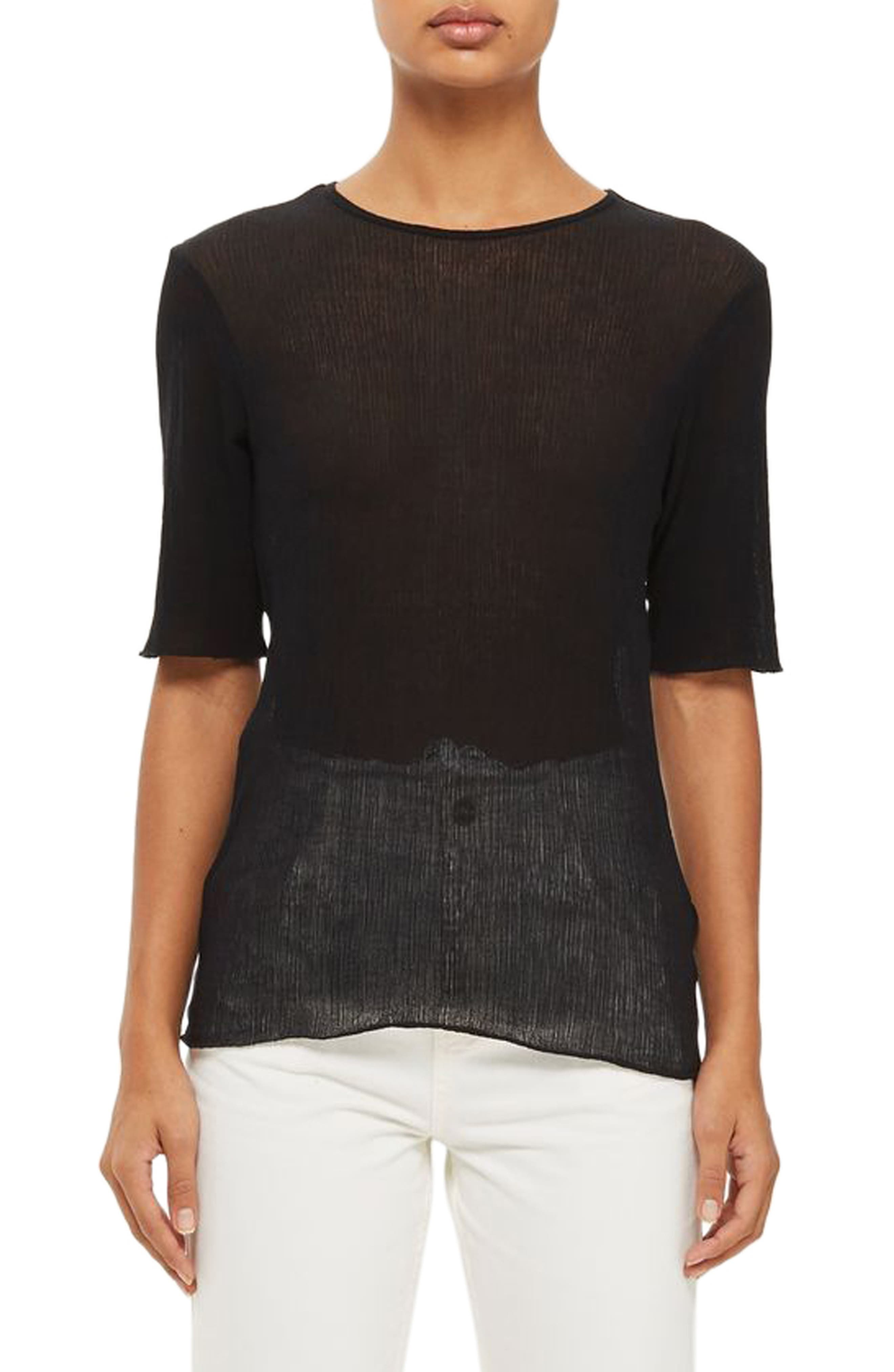 Topshop Boutique Crinkle Tee