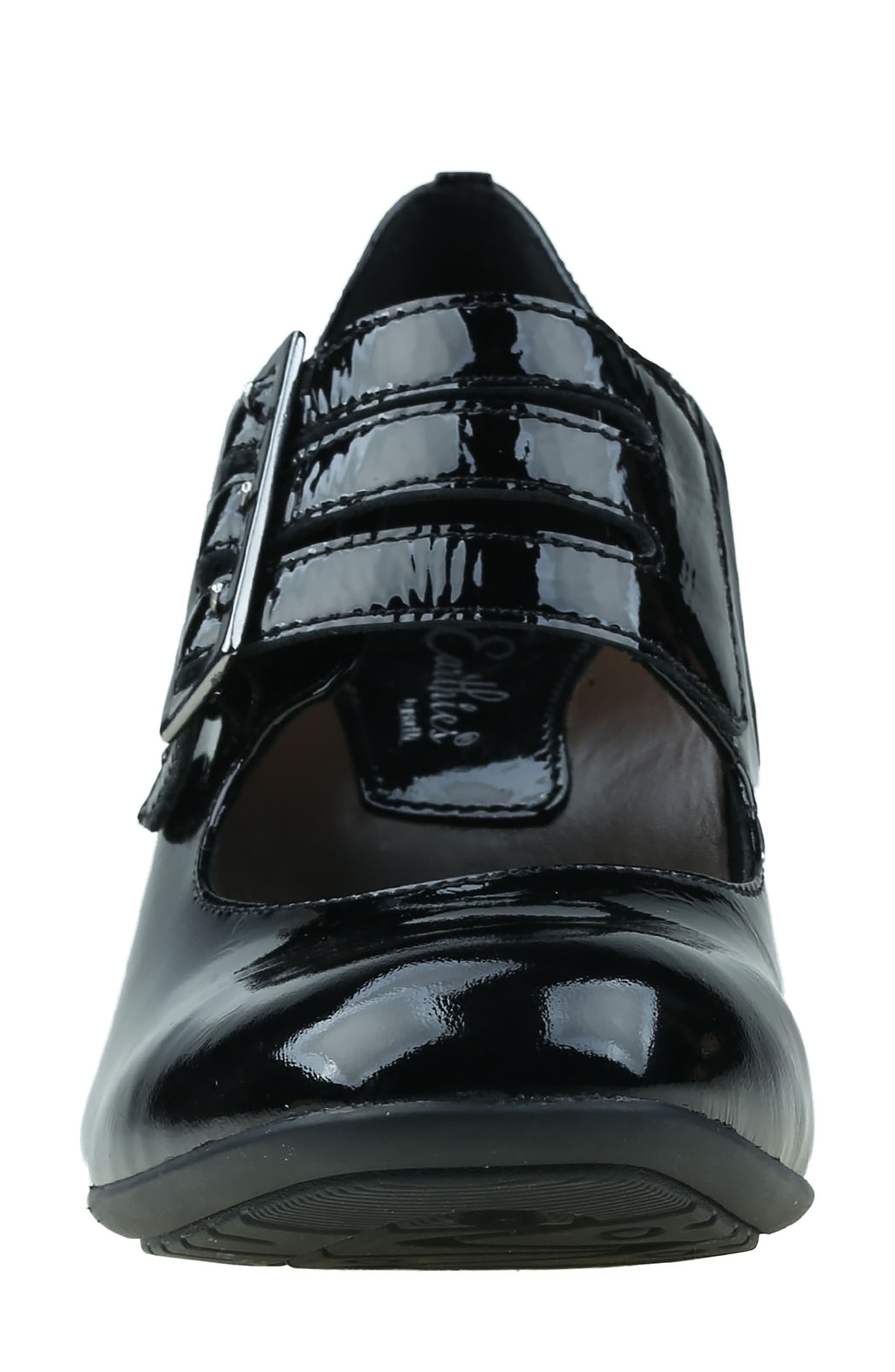 Fortuna Mary Jane Pump,                             Alternate thumbnail 4, color,                             Black Patent Leather