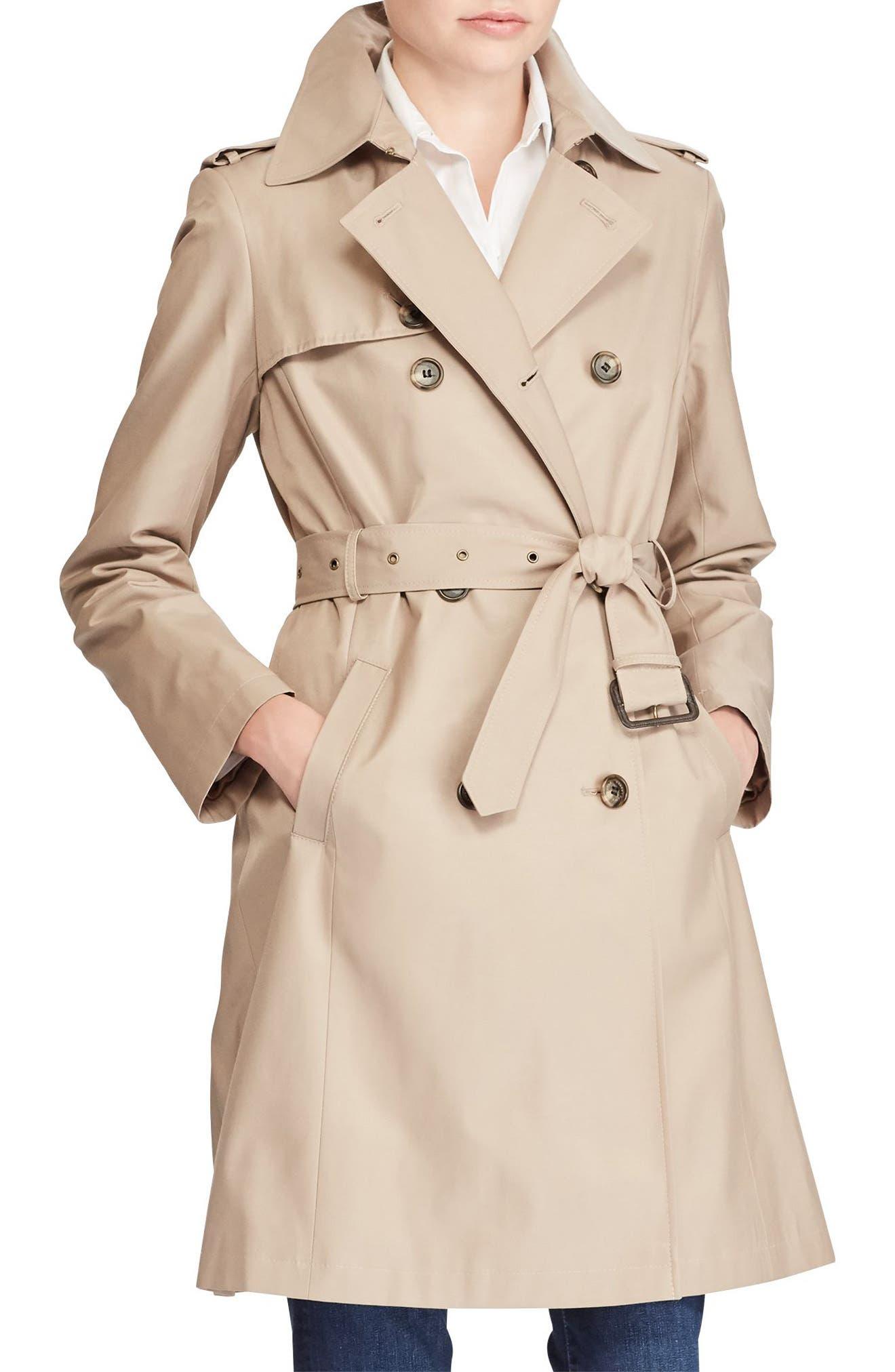 Lauren Ralph Lauren Double Breasted Trench Coat