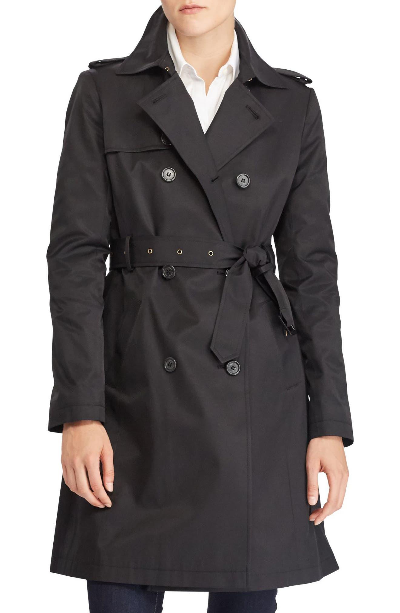 Alternate Image 1 Selected - Lauren Ralph Lauren Double Breasted Trench Coat