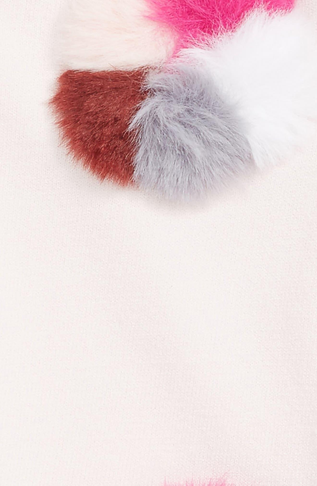 Pompom Embellished Pullover,                             Alternate thumbnail 2, color,                             Ballet Pink