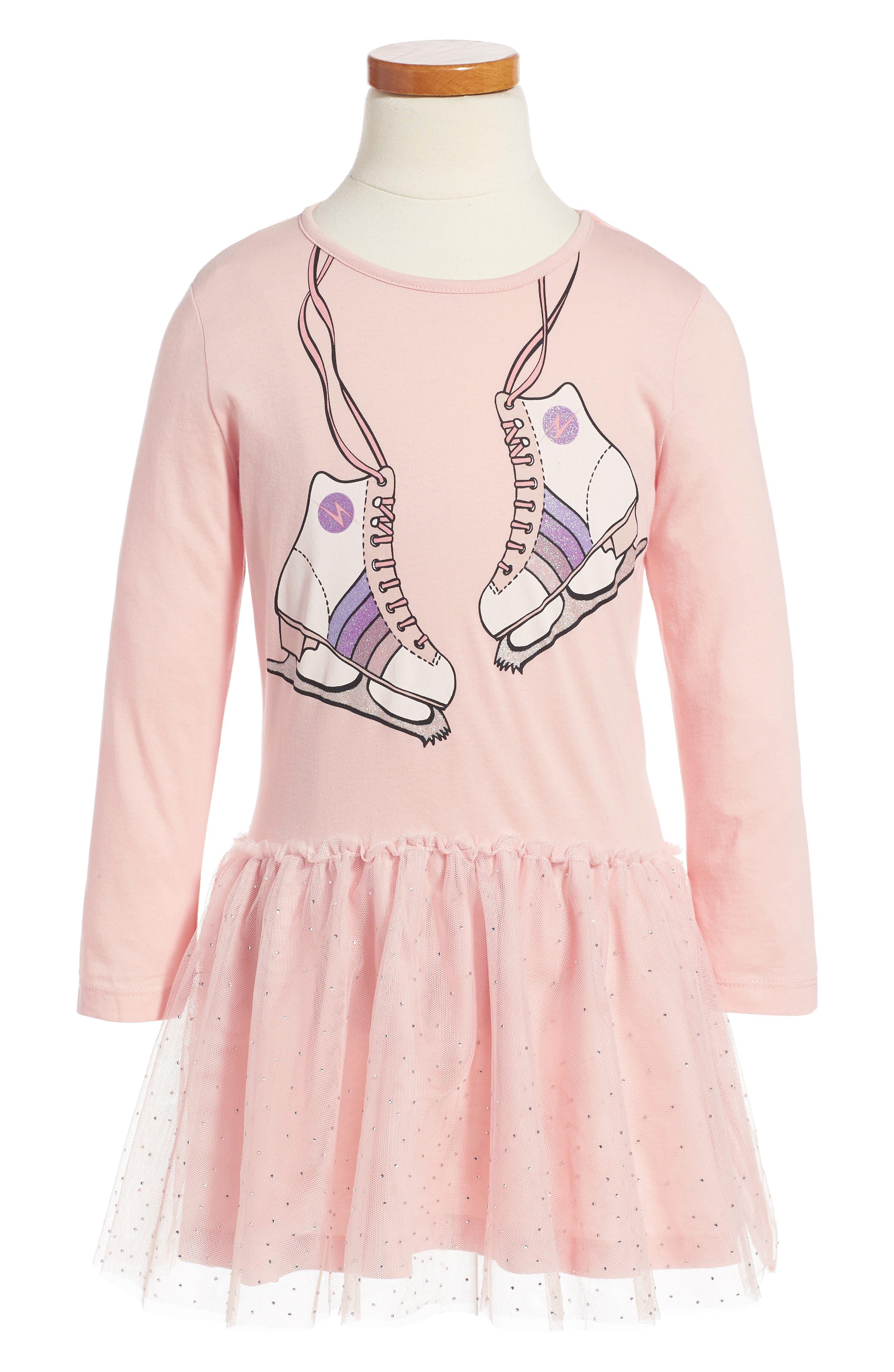 Kids Primrose Skates Dress,                         Main,                         color, Pink