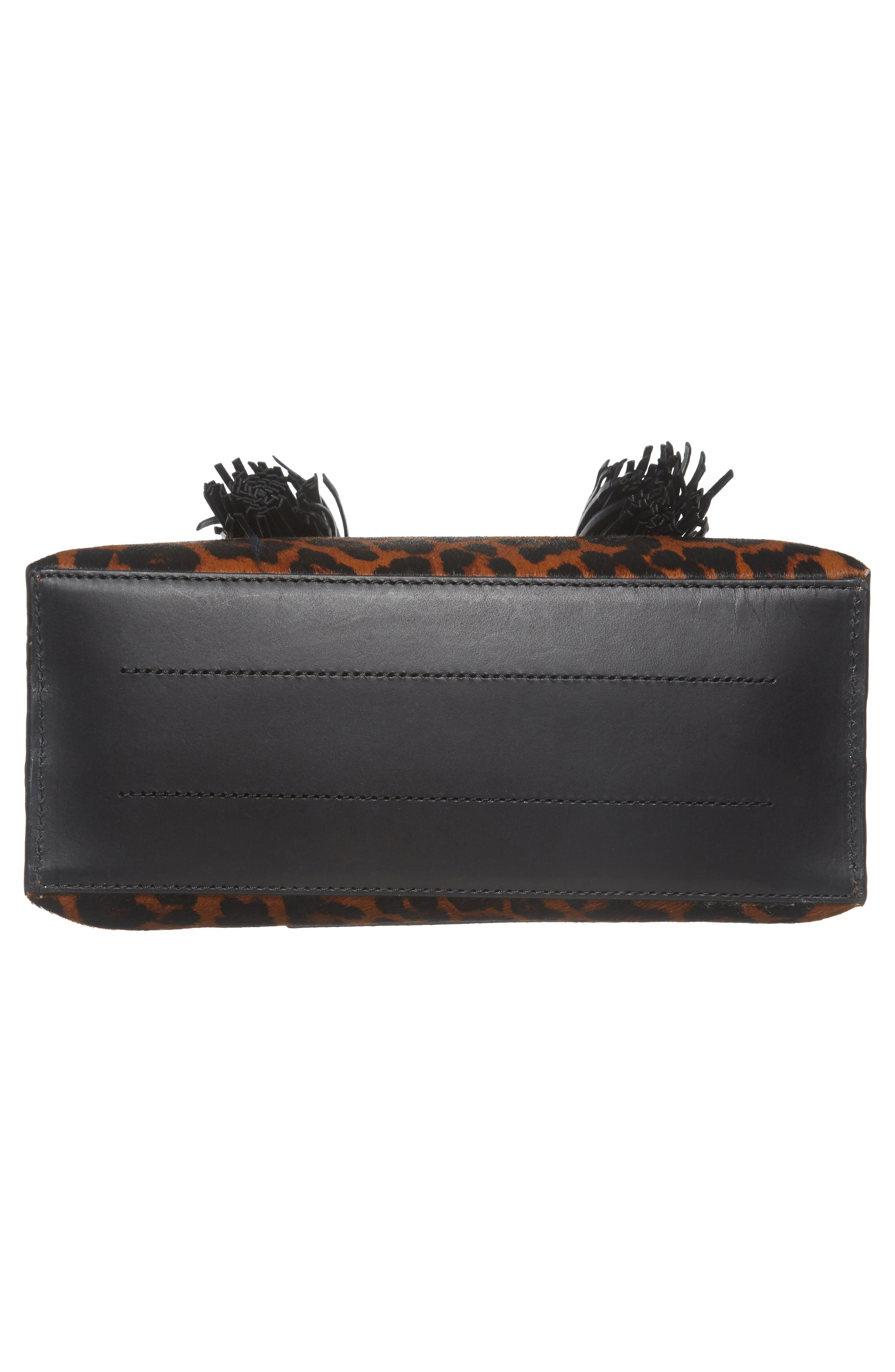 Genuine Calf Hair Dome Satchel,                             Alternate thumbnail 6, color,                             Leopard