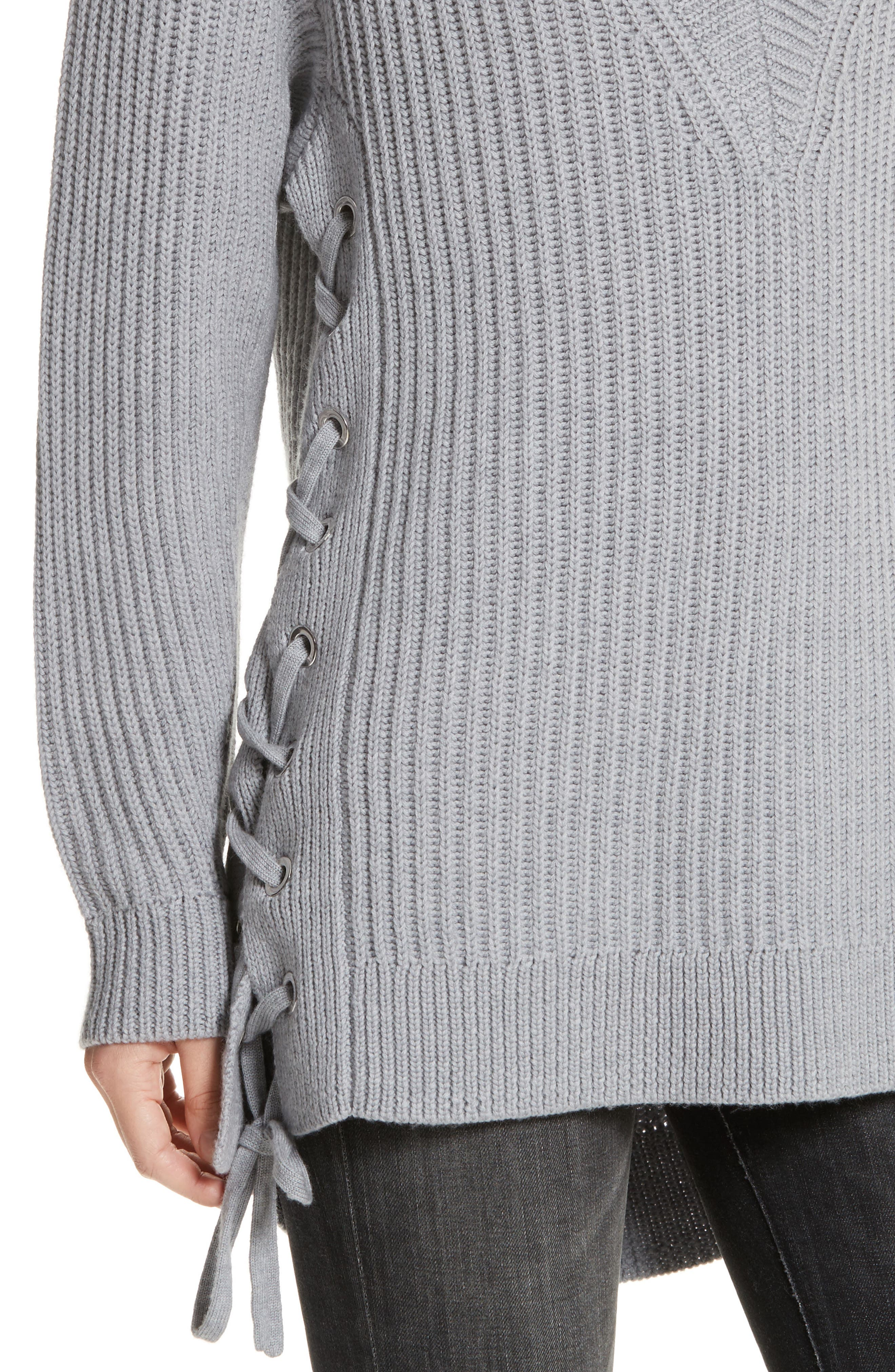 Alternate Image 4  - rag & bone/JEAN Ivy Side Tie Sweater