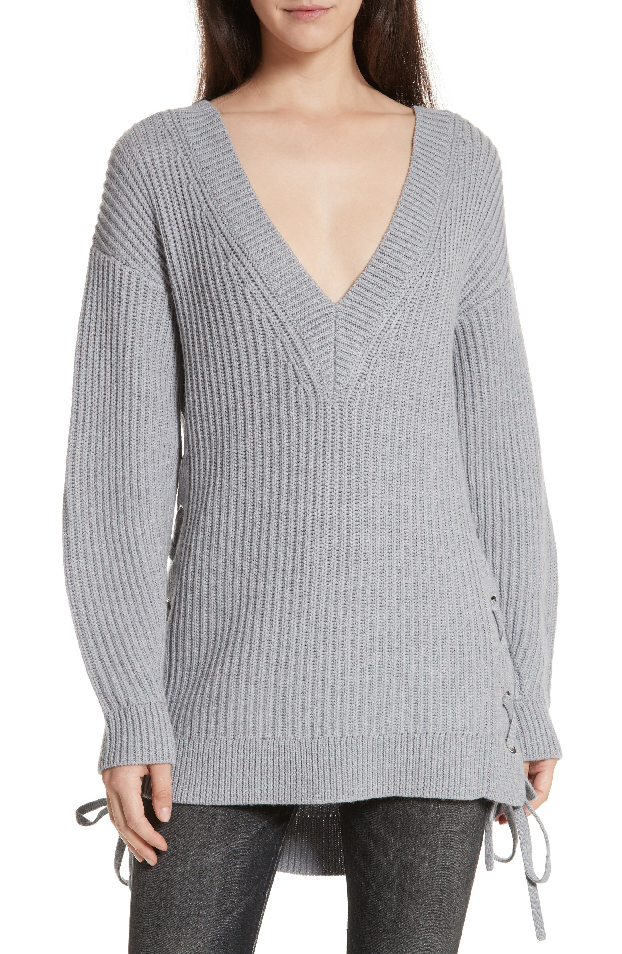 Main Image - rag & bone/JEAN Ivy Side Tie Sweater