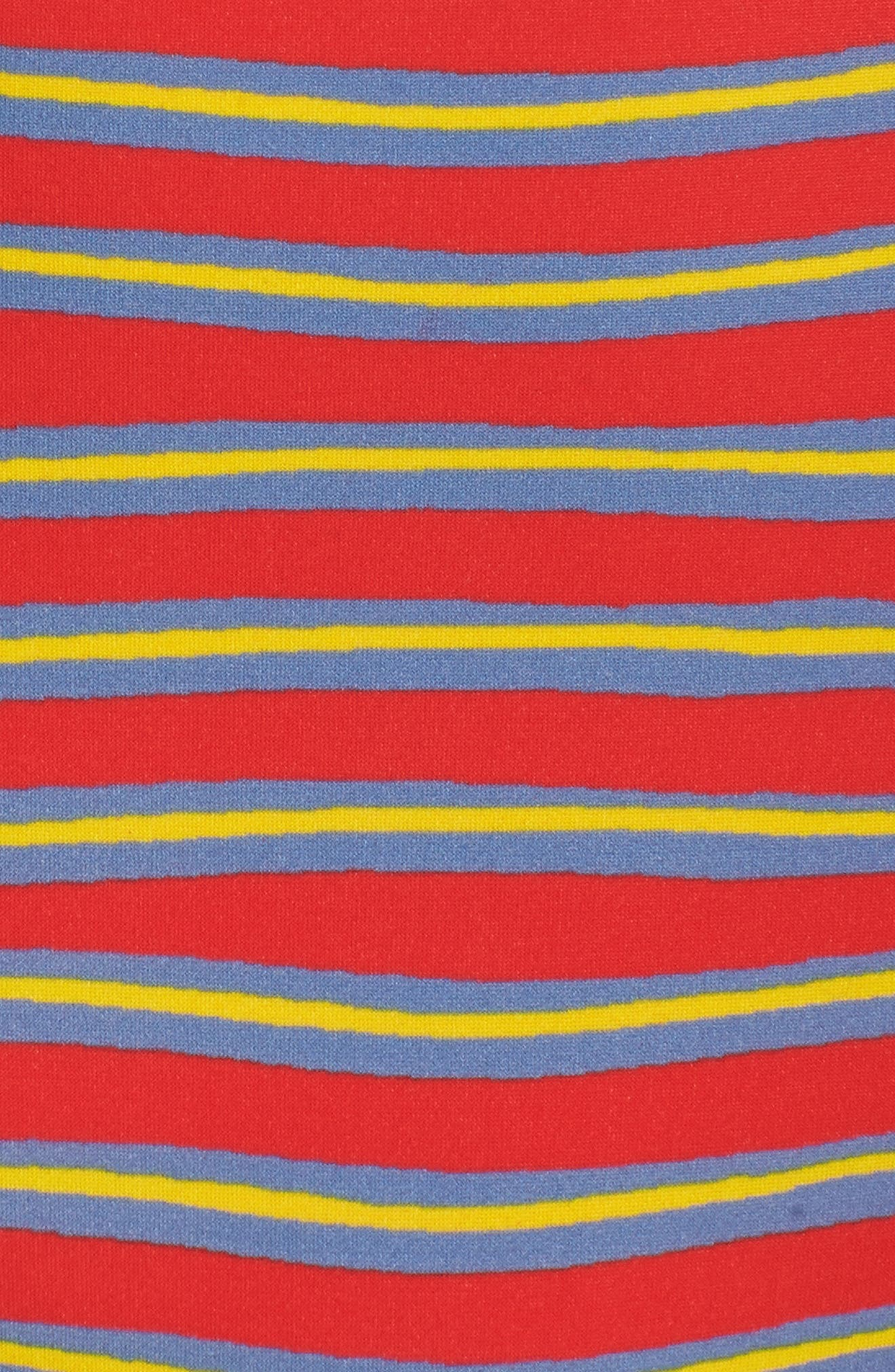 Strapless Bikini Top,                             Alternate thumbnail 9, color,                             Bodin Stripe Bright Red