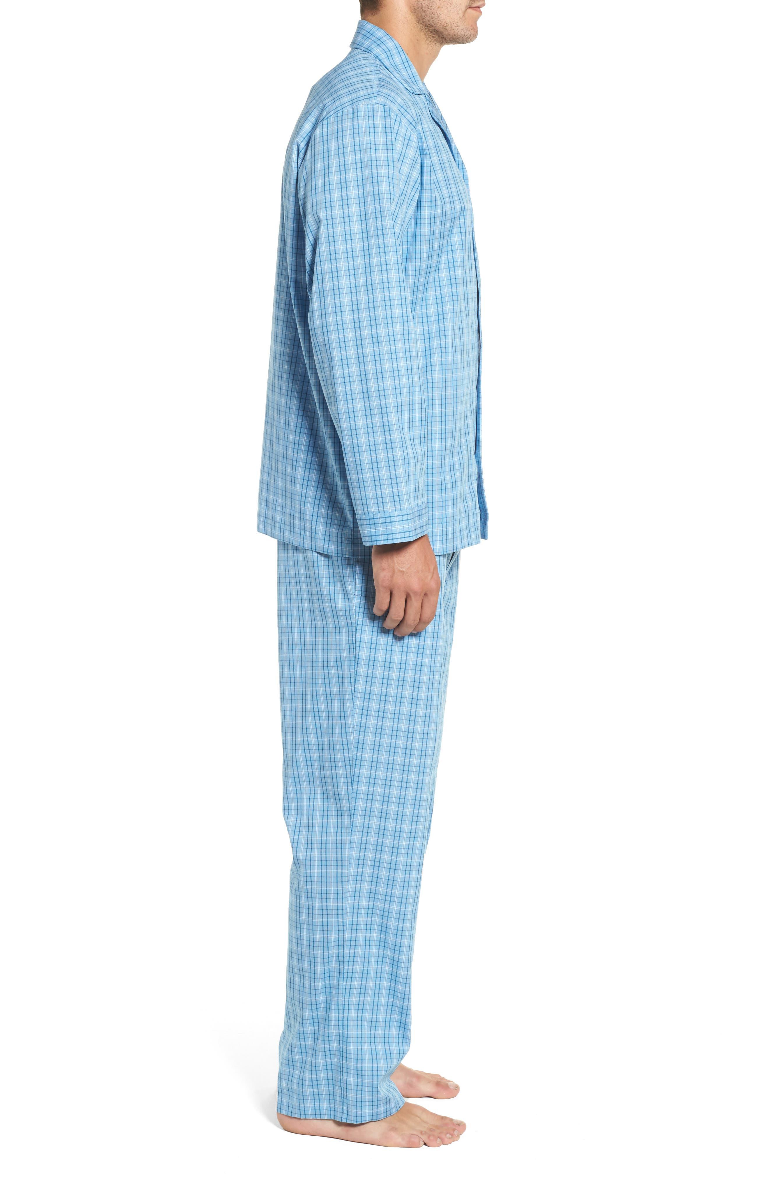 Alternate Image 3  - Nordstrom Men's Shop Poplin Pajama Set