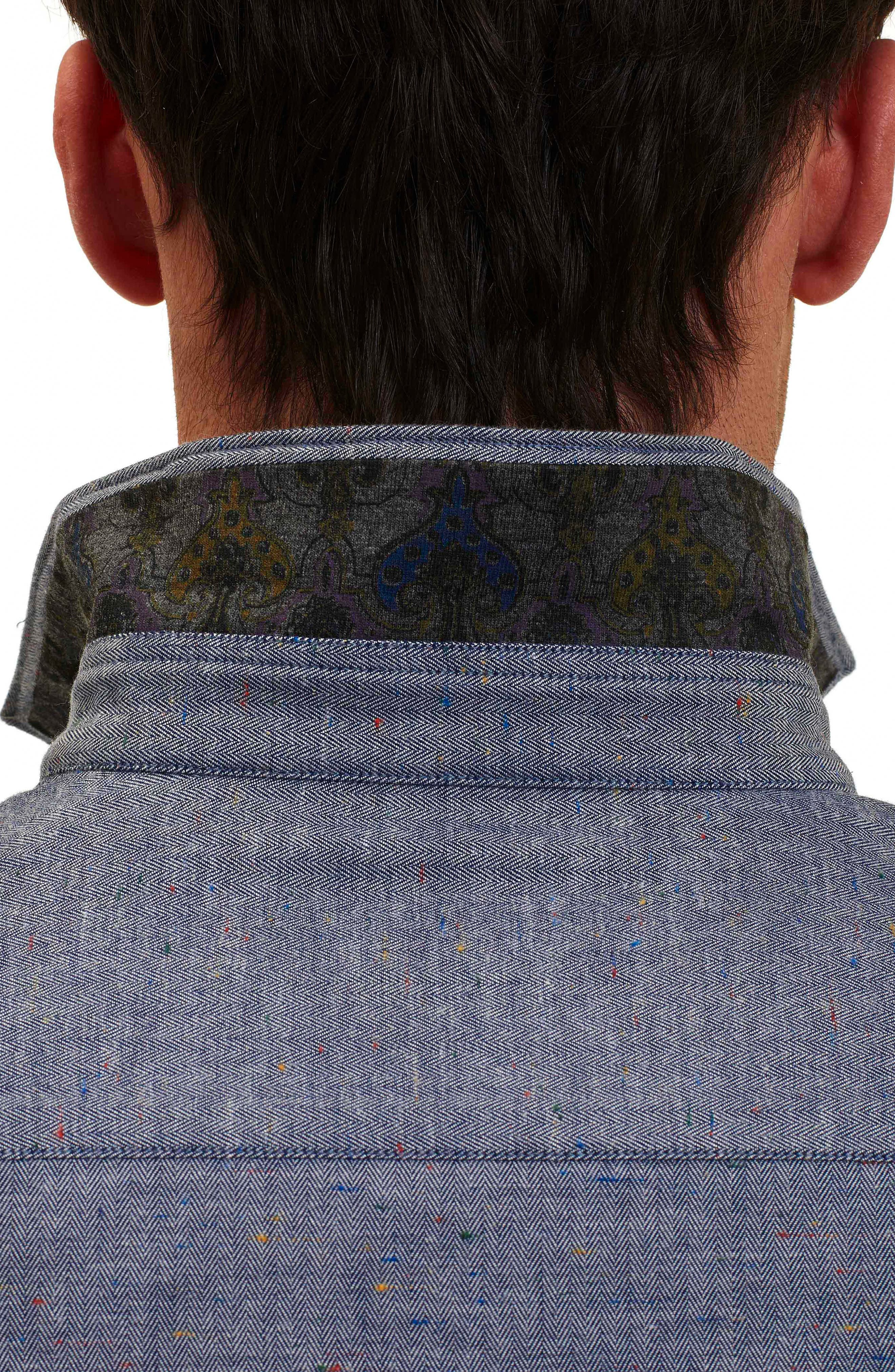 Alternate Image 3  - Robert Graham Upstate Classic Fit Herringbone Sport Shirt