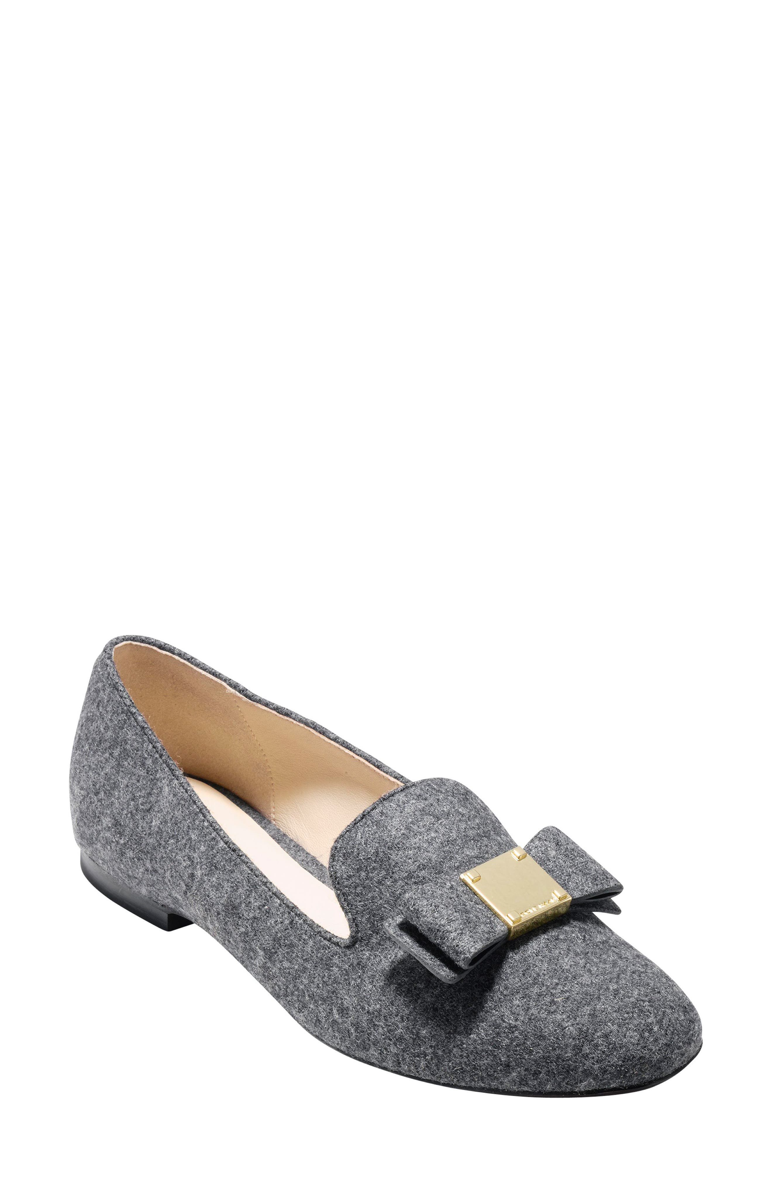 Tali Bow Loafer,                             Main thumbnail 1, color,                             Gray Flannel