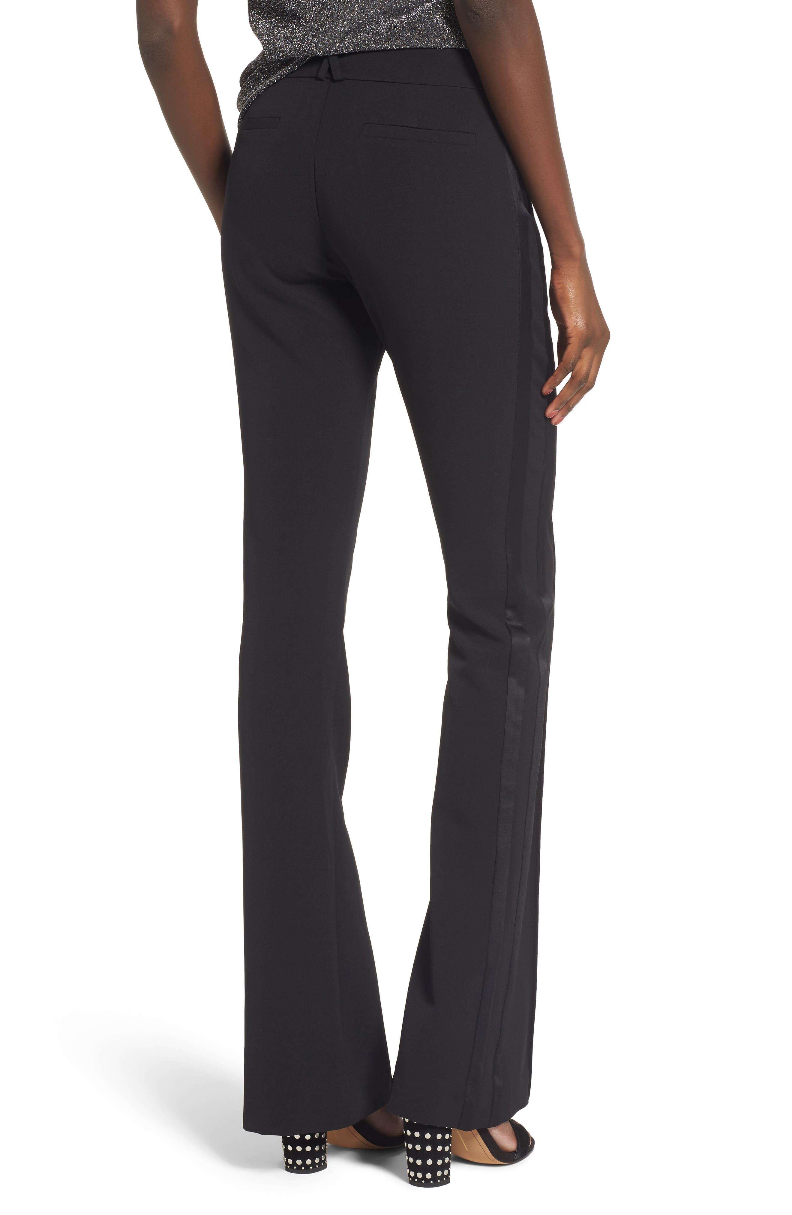 Roxy Flare Leg Pants,                             Alternate thumbnail 2, color,                             Black