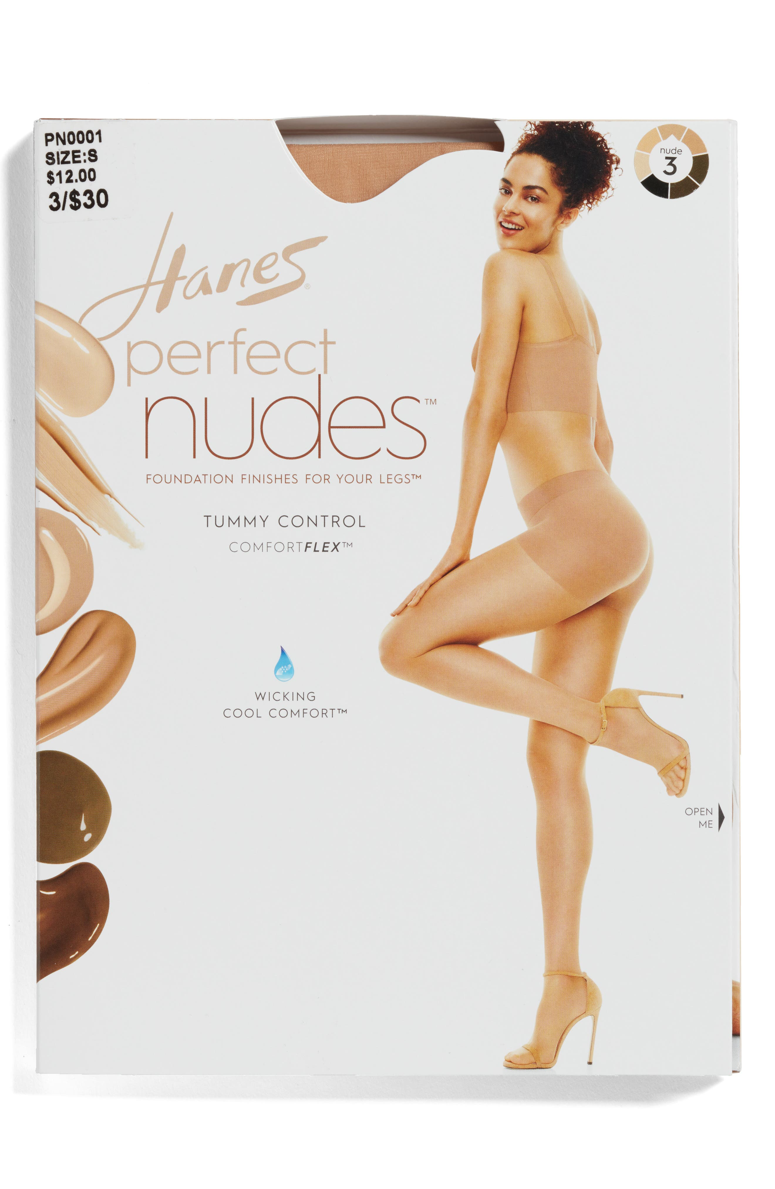 Alternate Image 2  - Hanes Perfect Nudes Pantyhose (3 for $30)