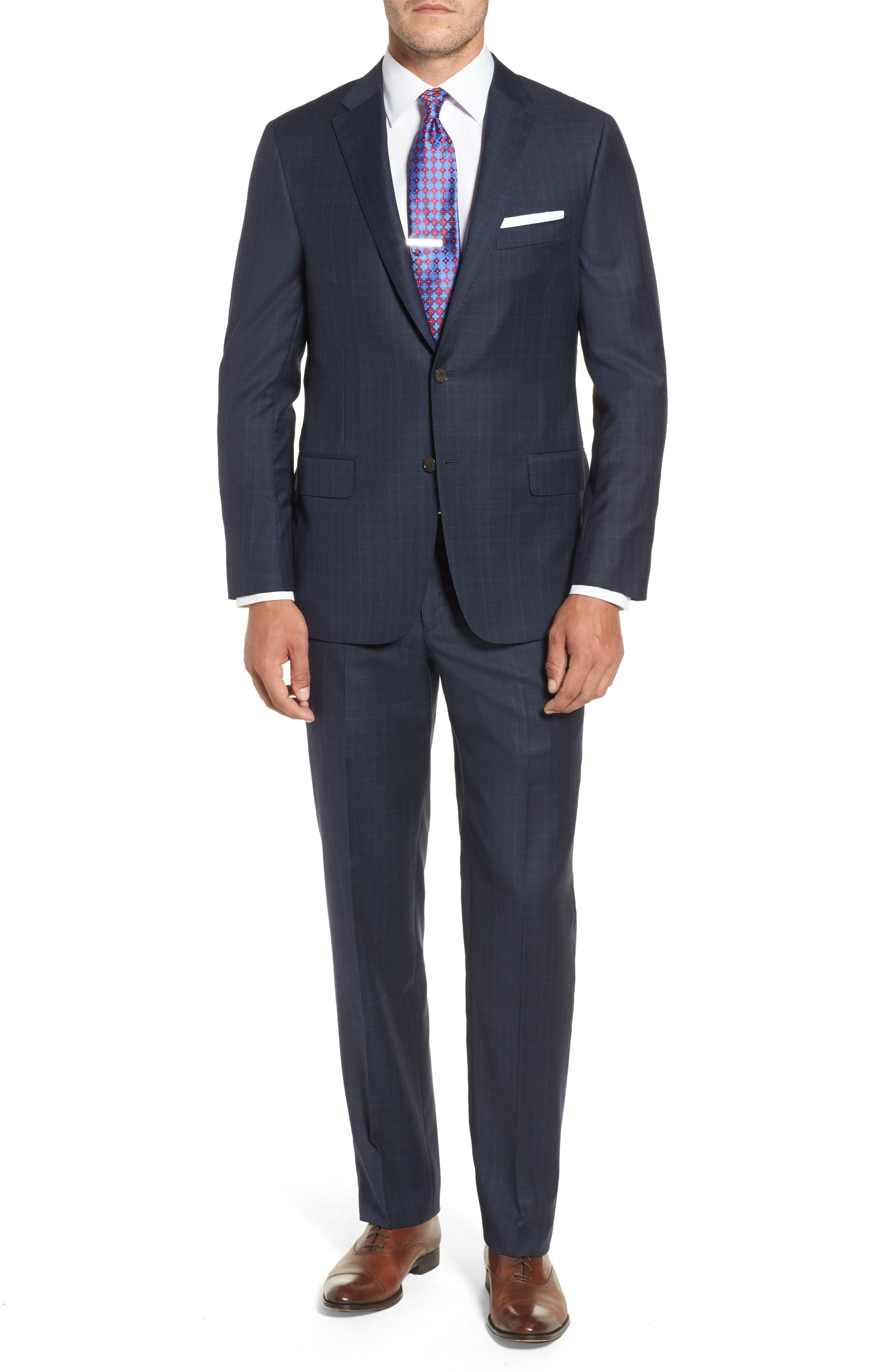 Alternate Image 1 Selected - Hickey Freeman Classic B Fit Plaid Wool Suit