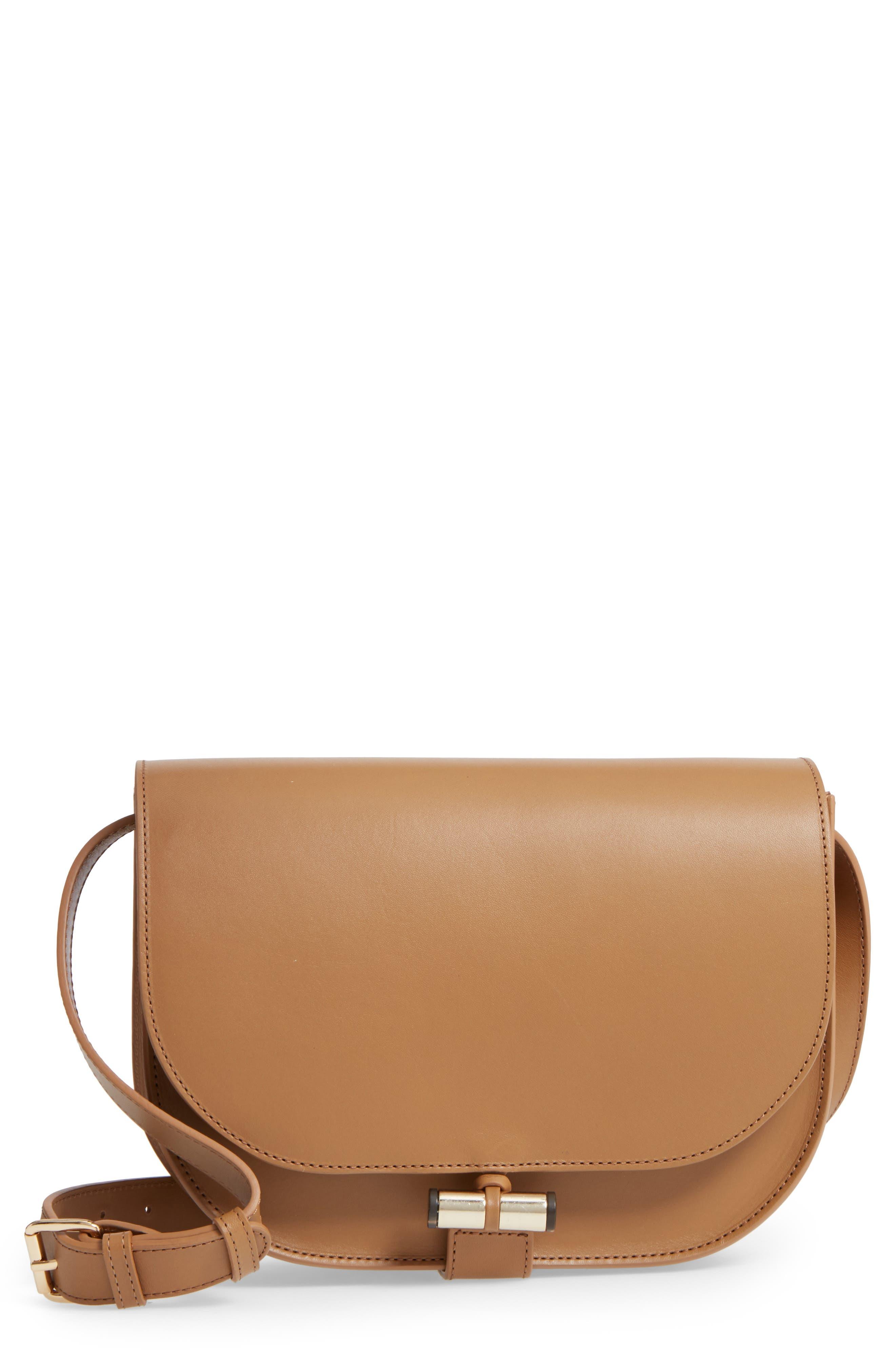 A.P.C. June Calfskin Leather Shoulder Bag
