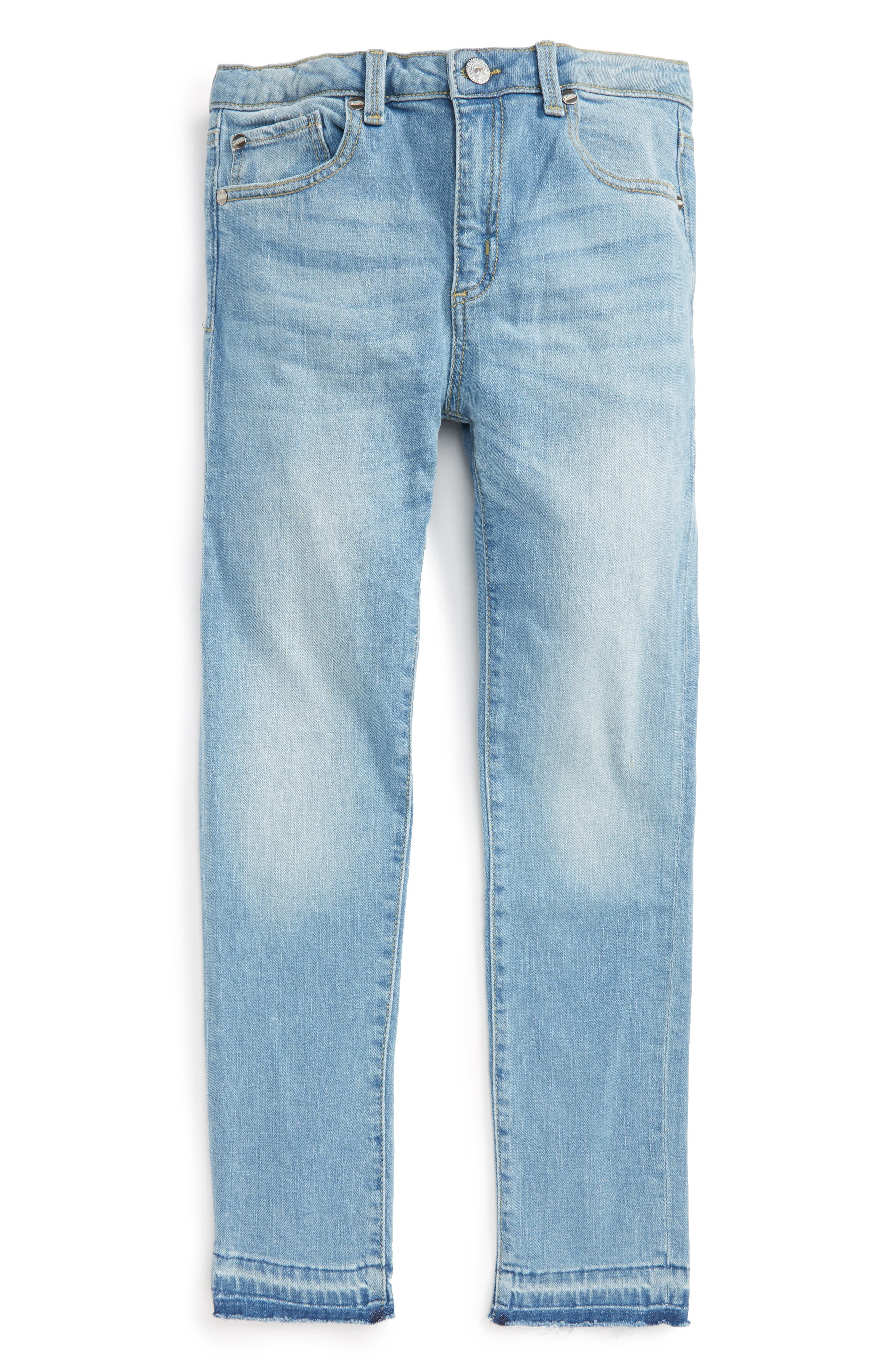 Alternate Image 1 Selected - Peek Celeste Skinny Jeans (Toddler Girls, Little Girls & Big Girls)